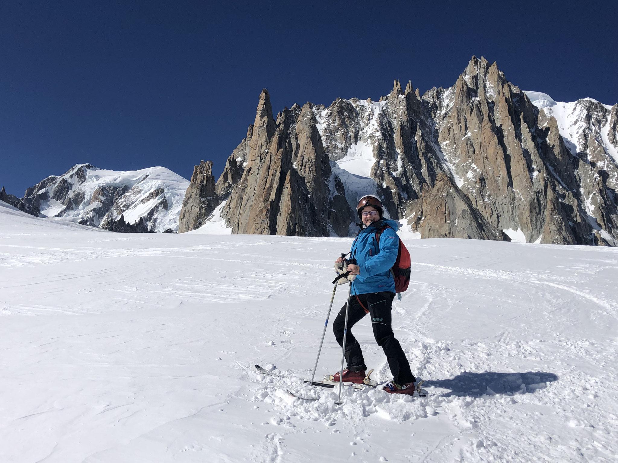 Sur le Glacier du Géant