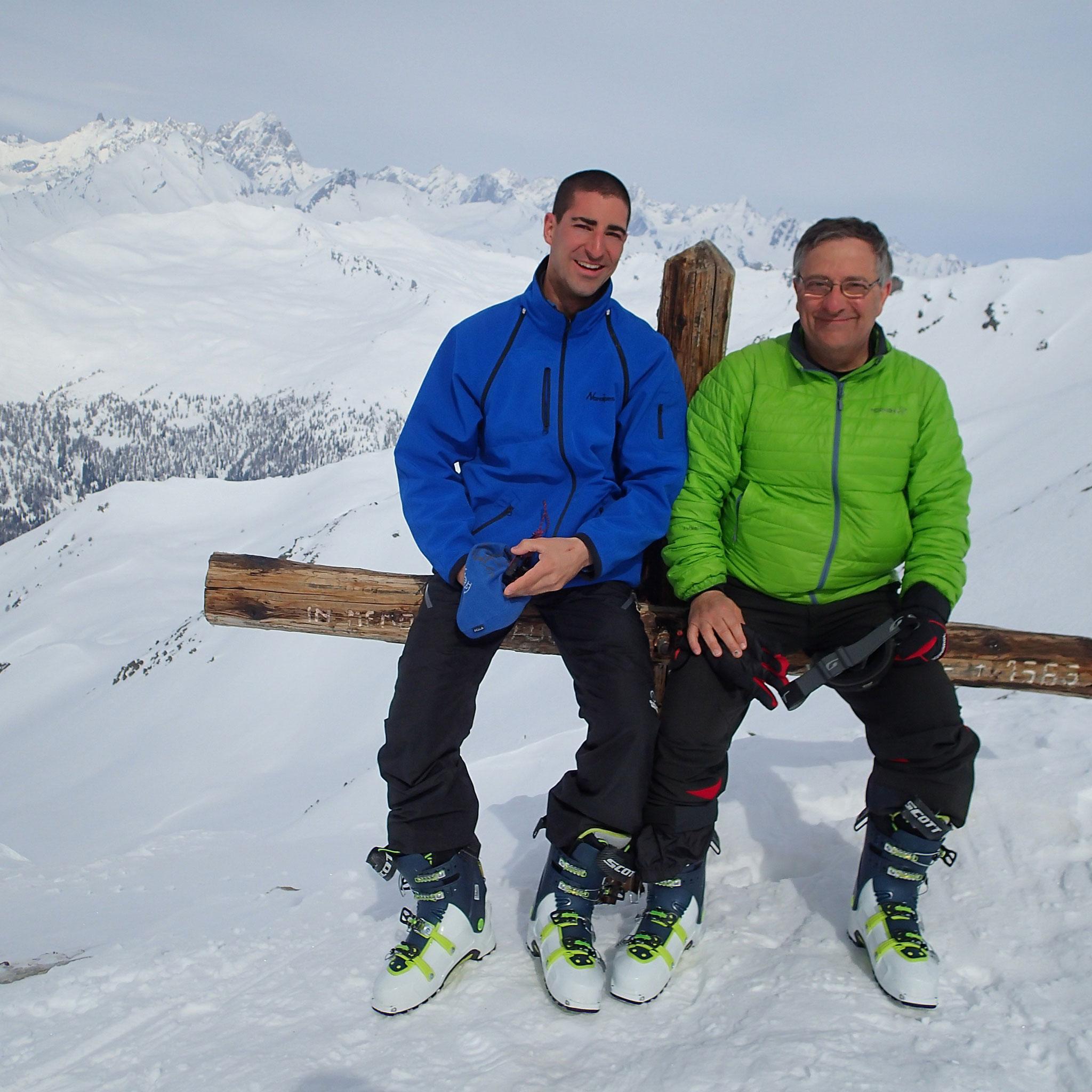 Marc et Michel au sommet. Bravo !