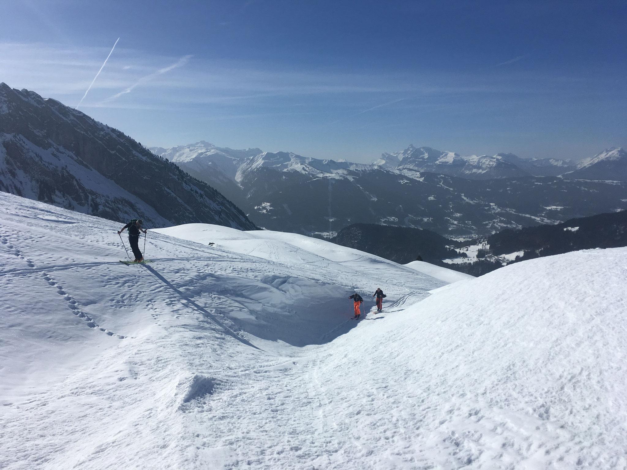 Vue sur le Grand Massif et La Pte Perçée