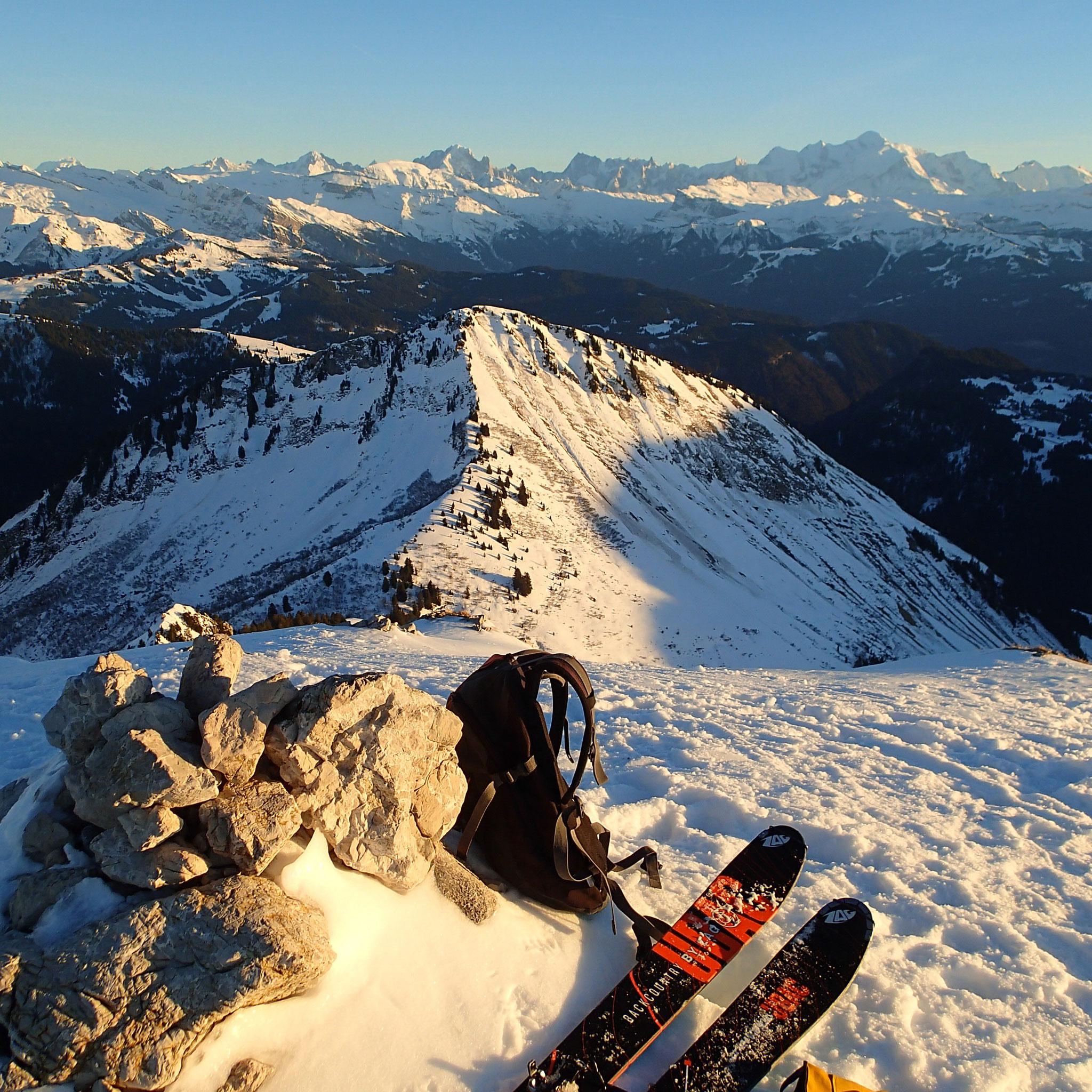 Au sommet, toujours un panorama magnifique !