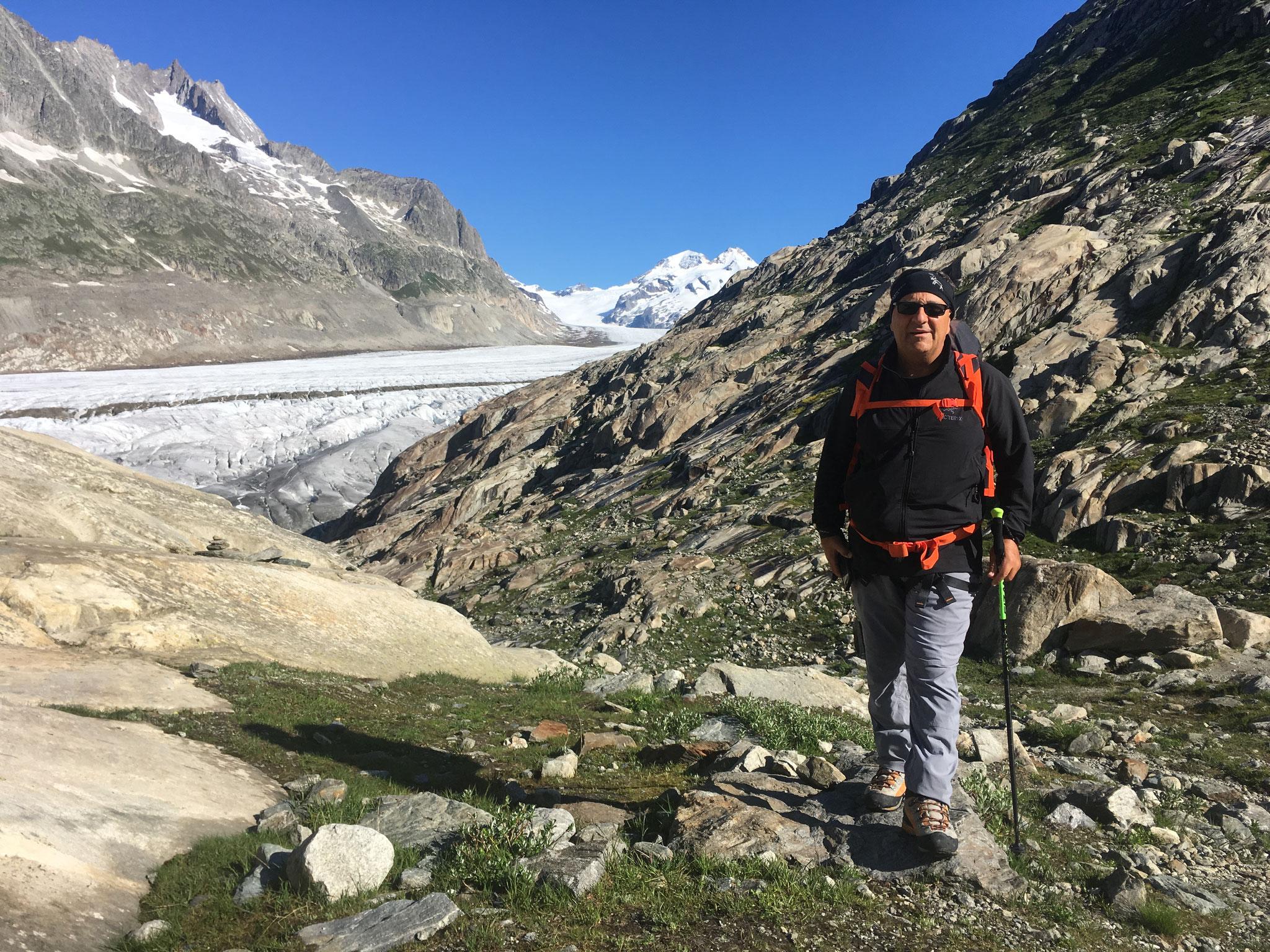 Michel près du Glacier d'Aletsch