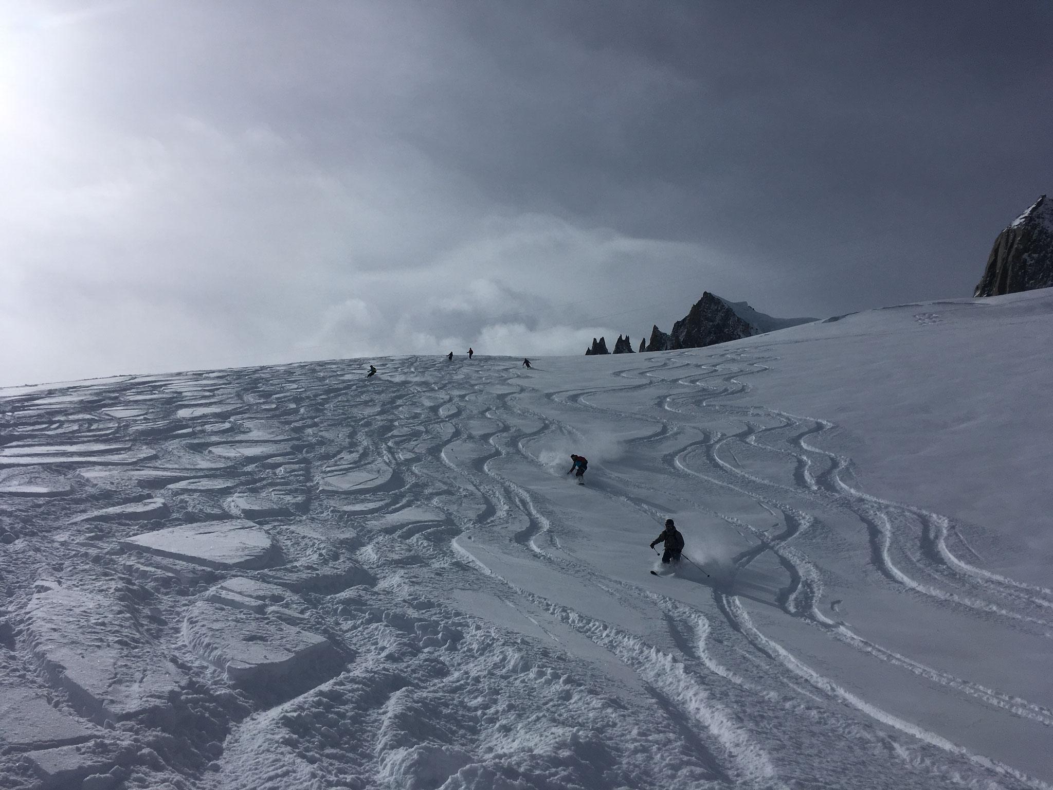 Les pentes du Rognon. Quelle qualité de neige !