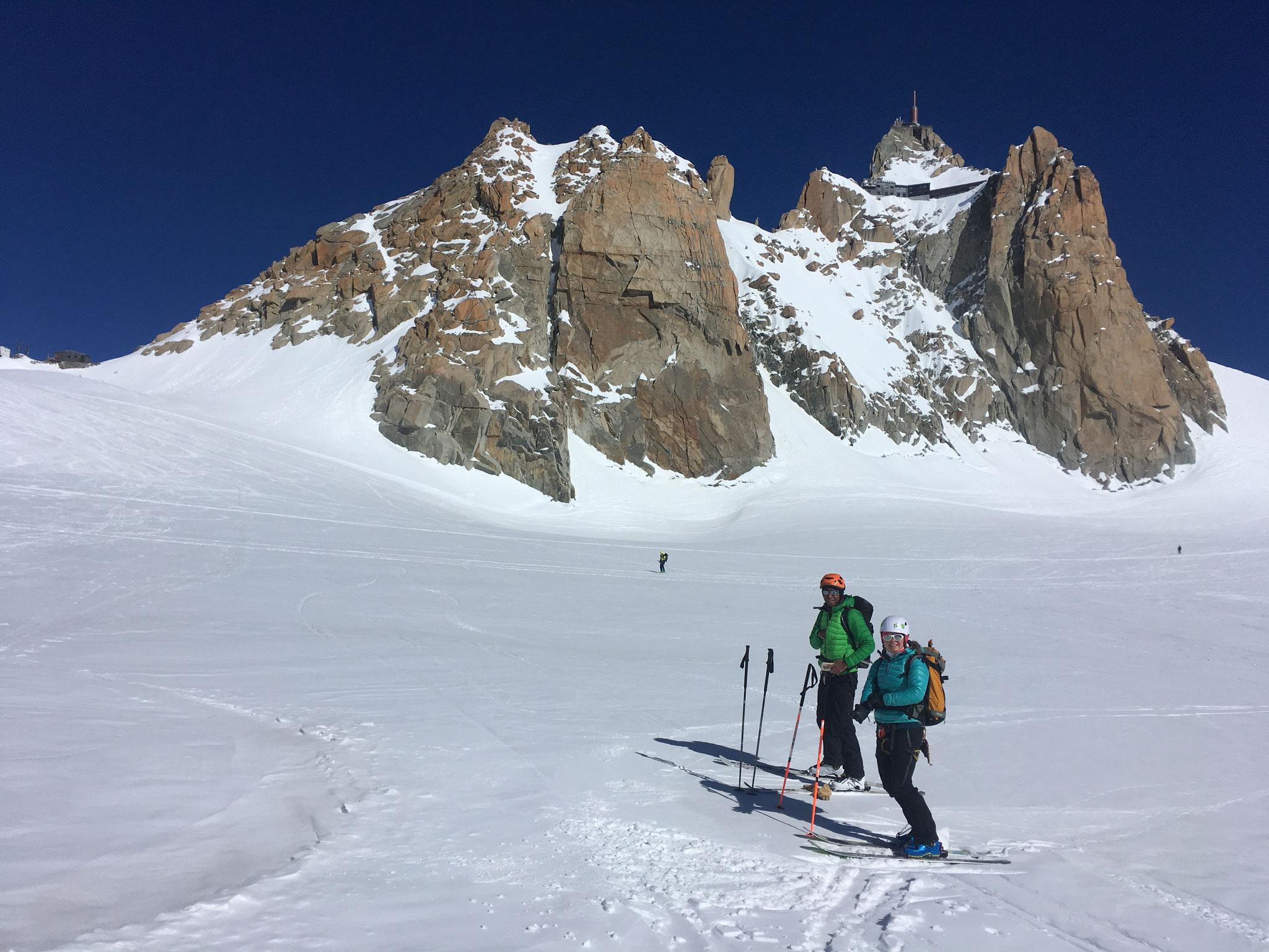 Pause au Col du Midi