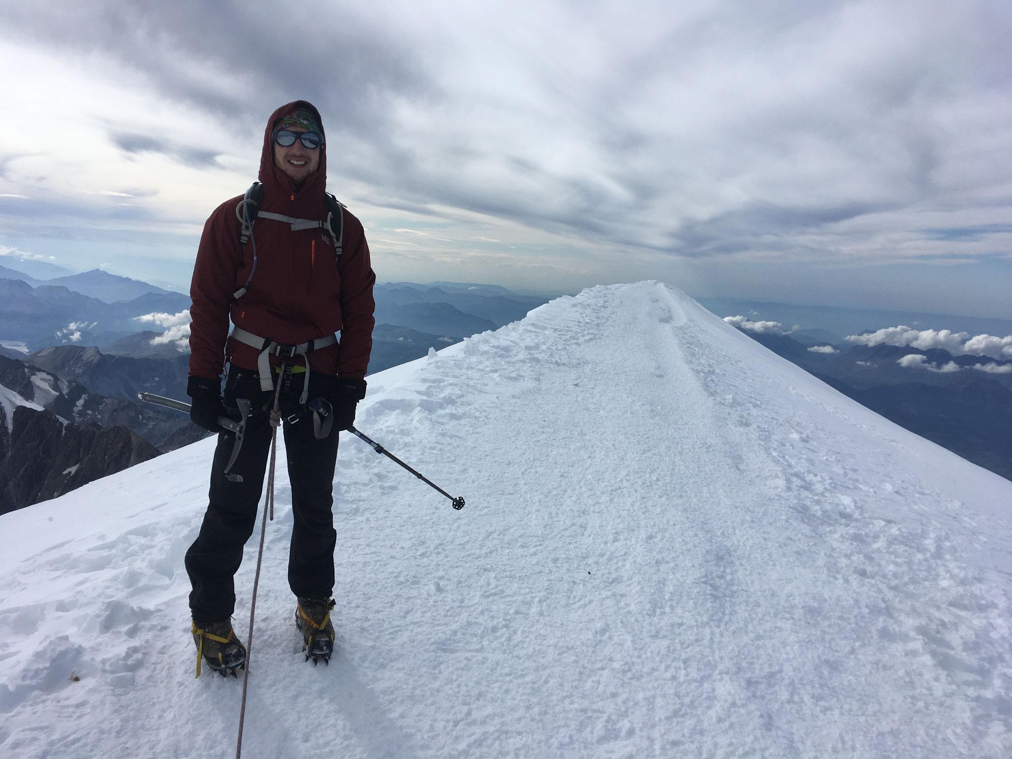Au sommet, vue coté Arête des Bosses