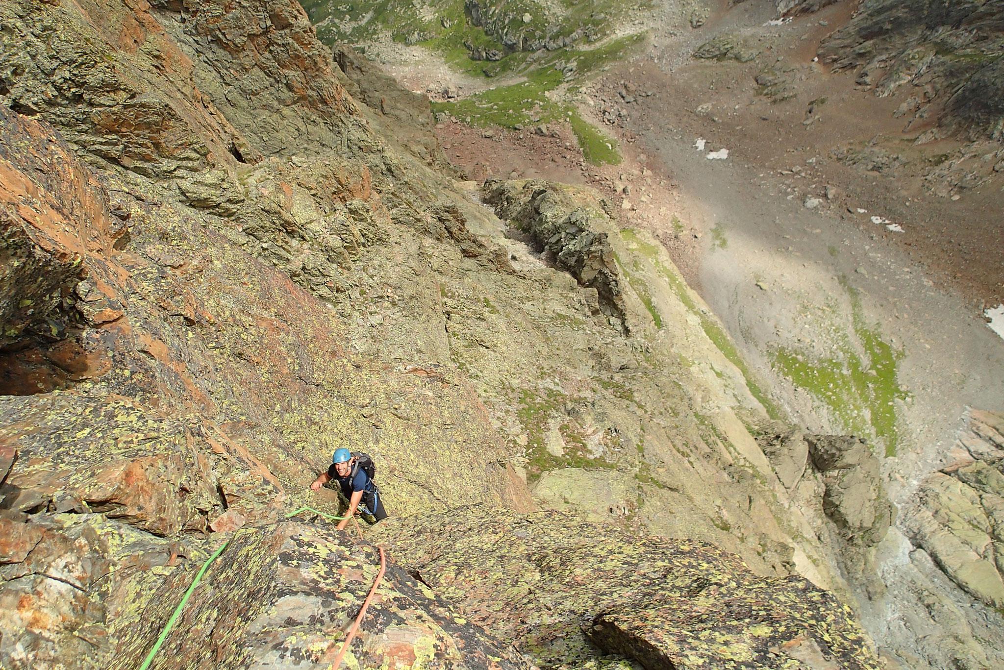 Dernière longueur avant le sommet, et belle ambiance !