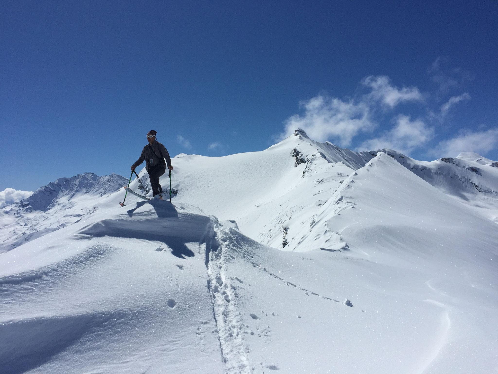 Arrivée sur la corniche du Col Nivoletta