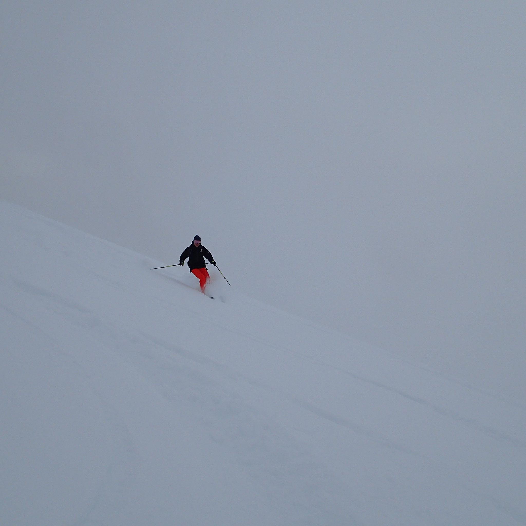 Du très bon ski à la descente