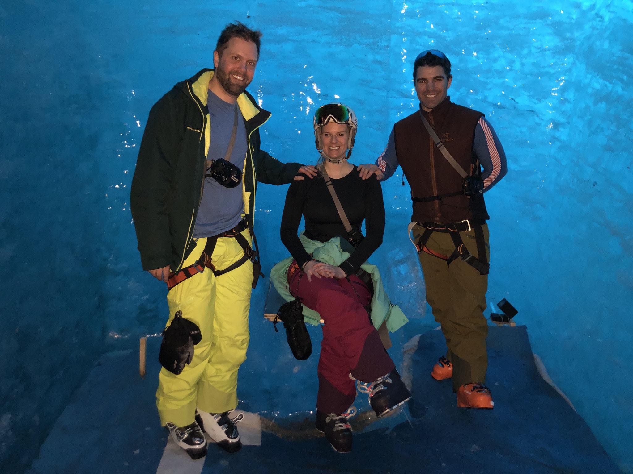 Fin de parcours dans la Grotte de La Mer de Glace