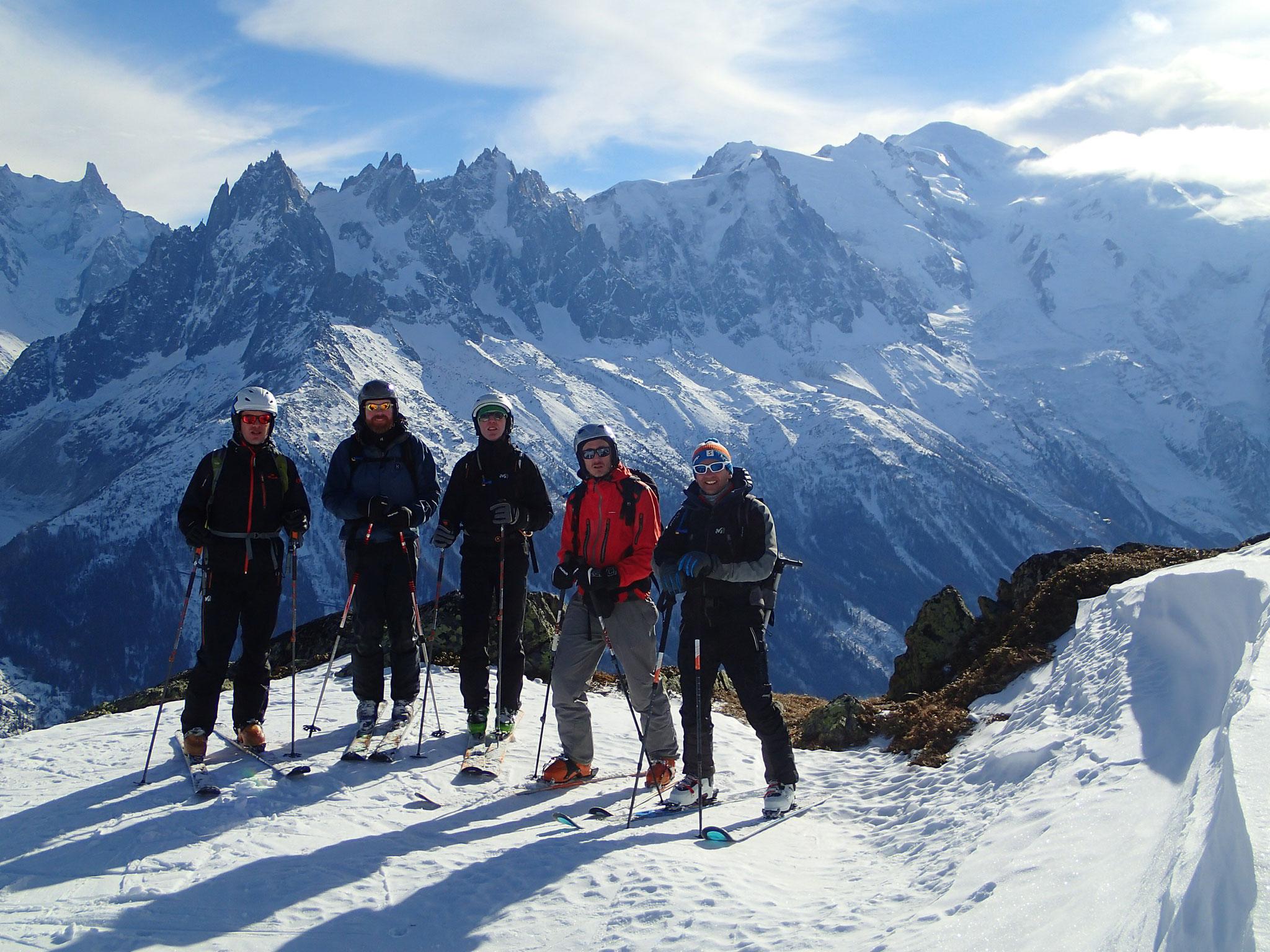Le team Pirret et le Mont-Blanc