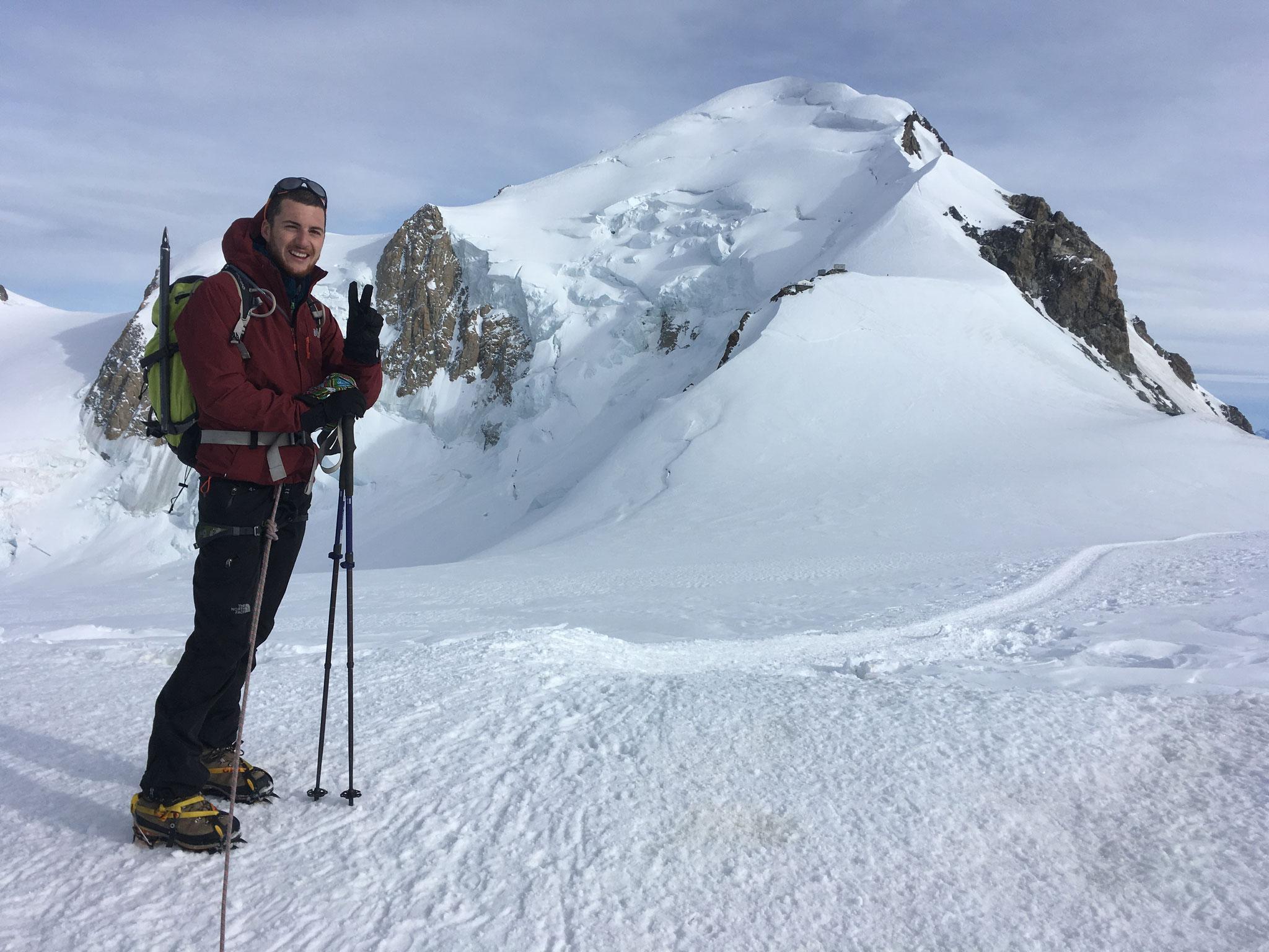 Au passage du Dôme, avec le Roi Mont-Blanc