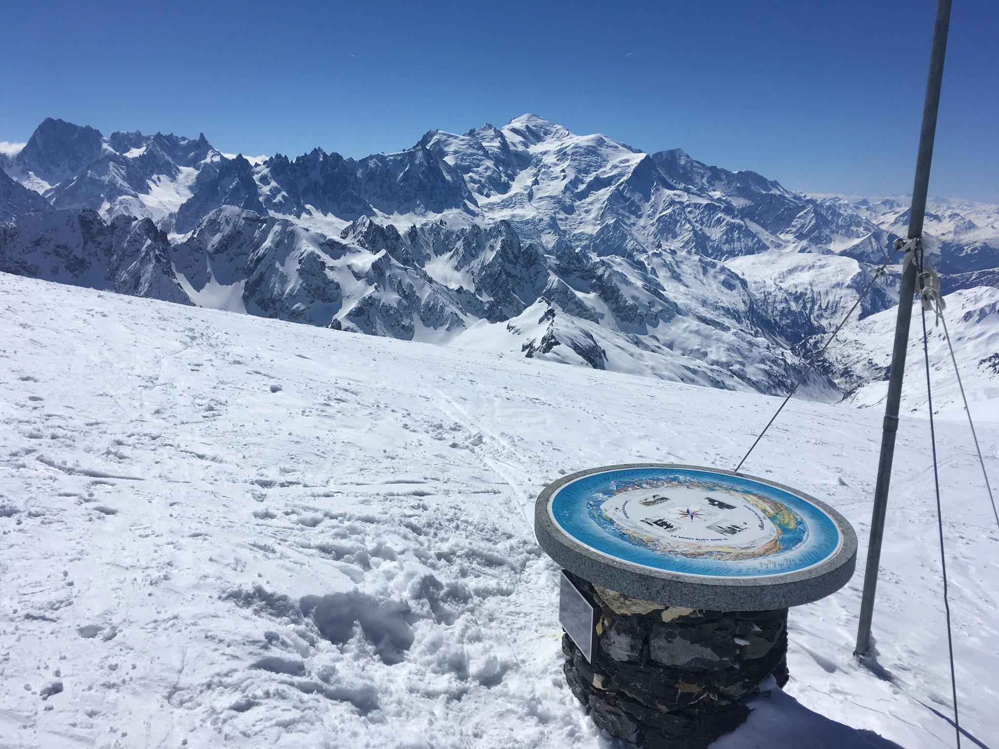 Table d'orientation du Buet et Mont-Blanc. Toujours aussi beau !