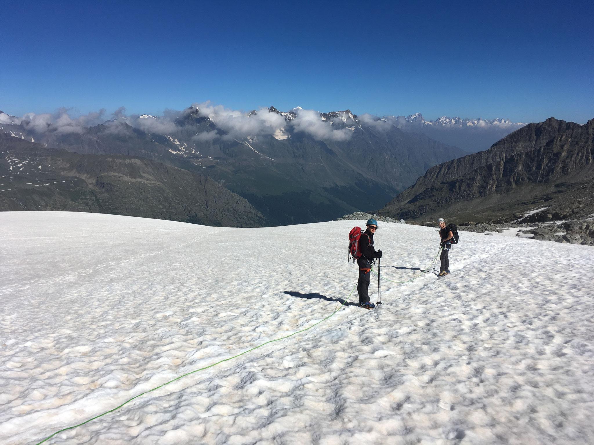 Descente sur le Glacier di Laveciau