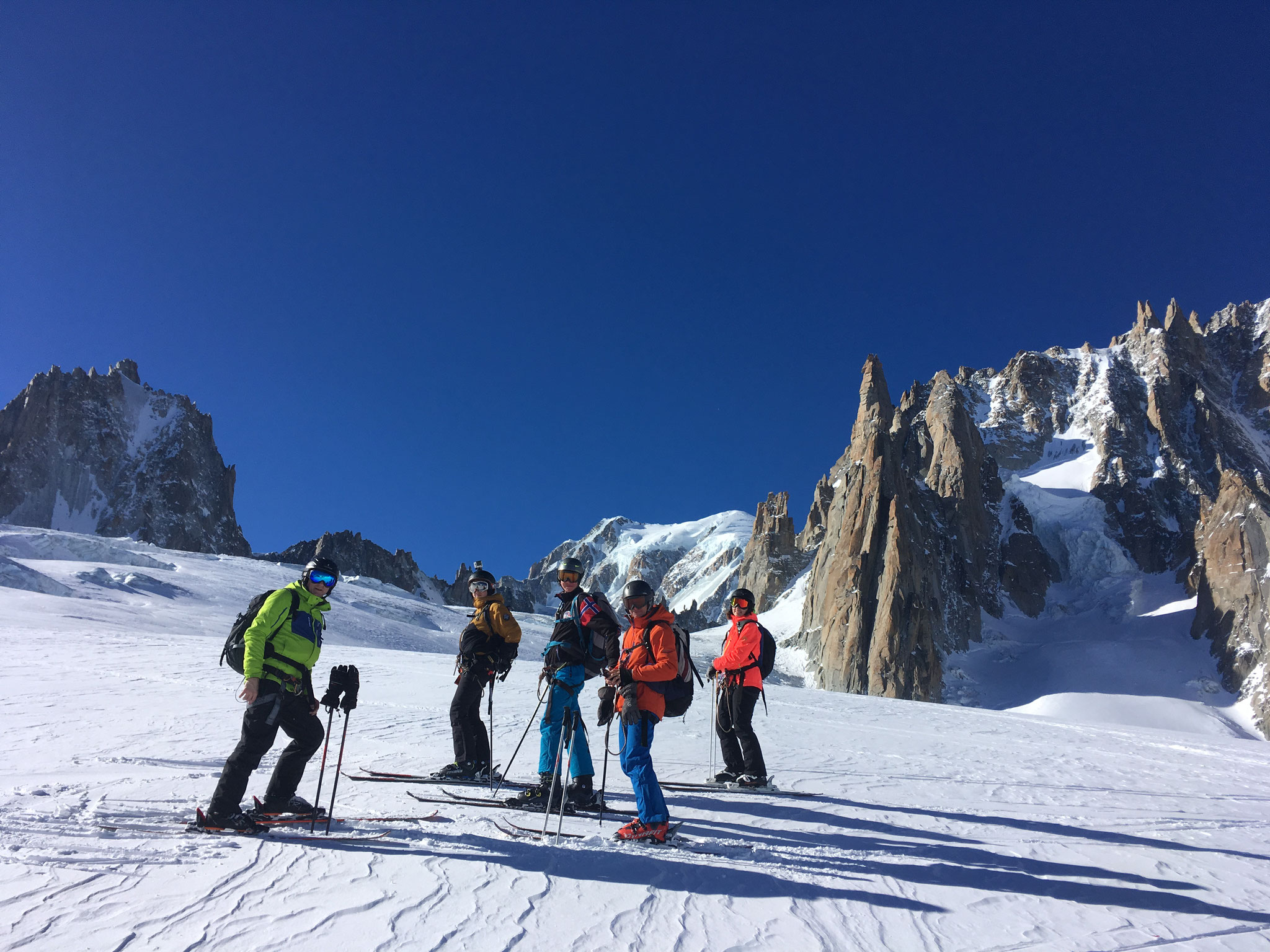 Sur le Glacier du Géant avec vue Mt-Blanc