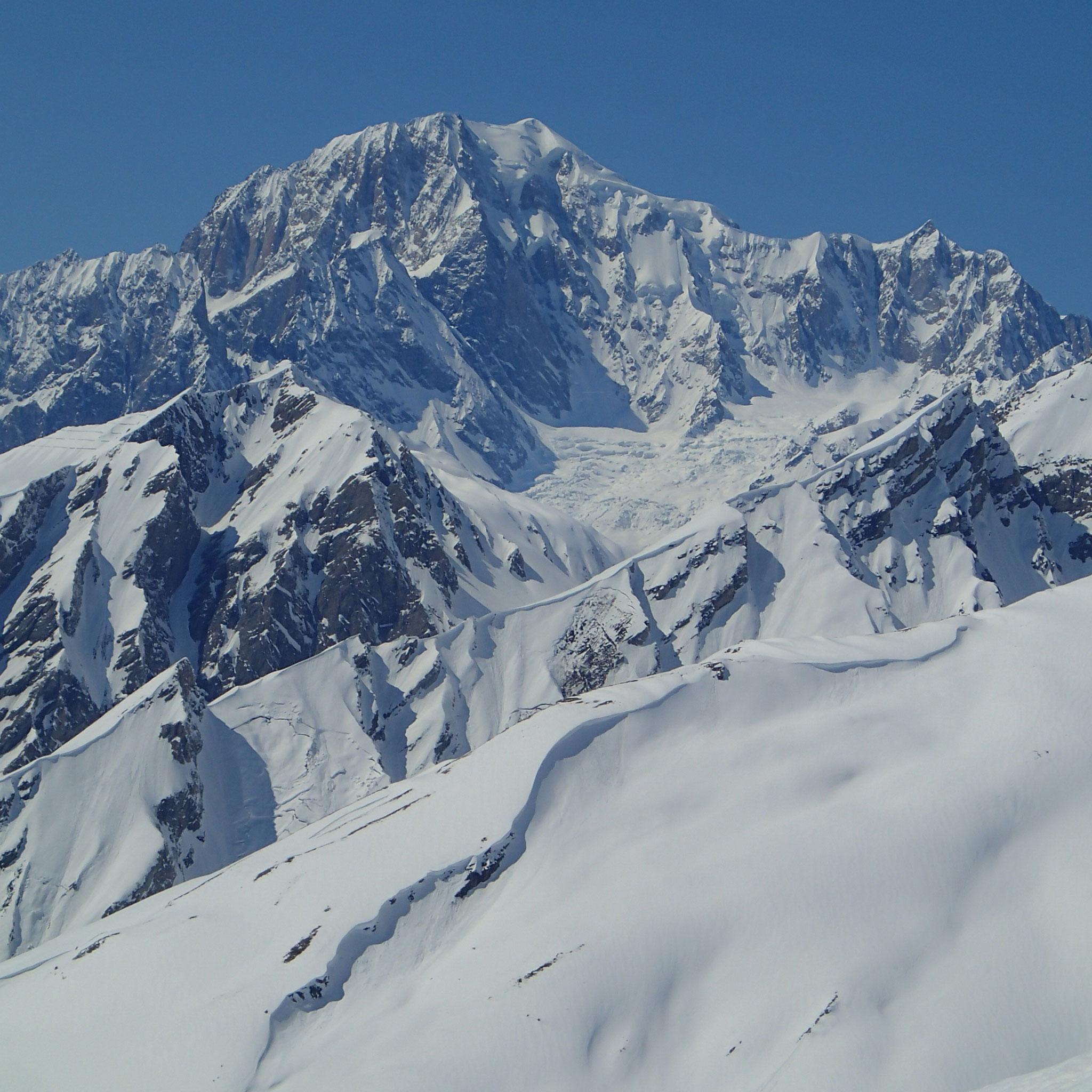 Avec une vue splendide sur le Mt-Blanc