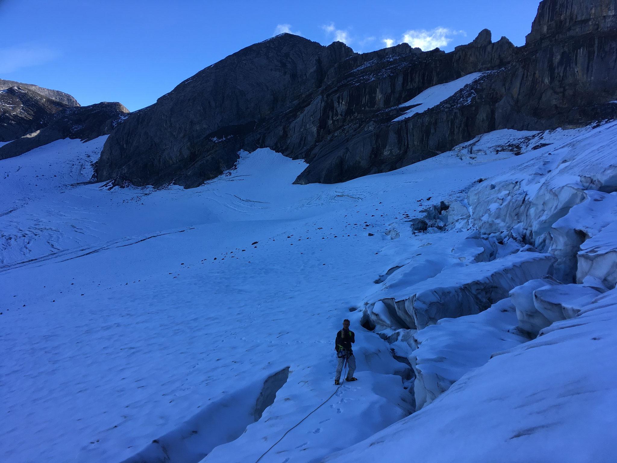 La rimaye du Glacier de Prazon