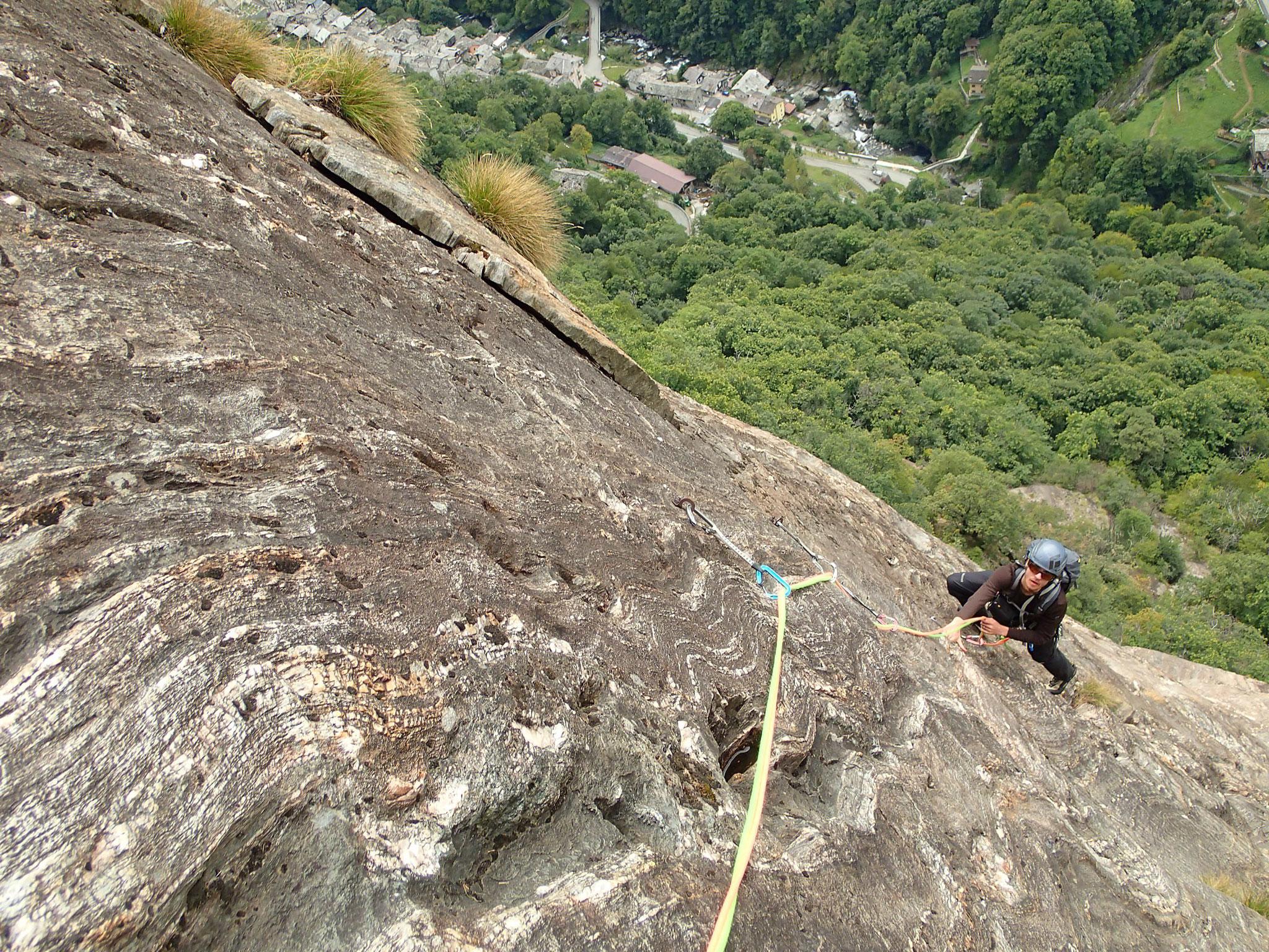 Le rocher est extraordinaire dans cette voie !