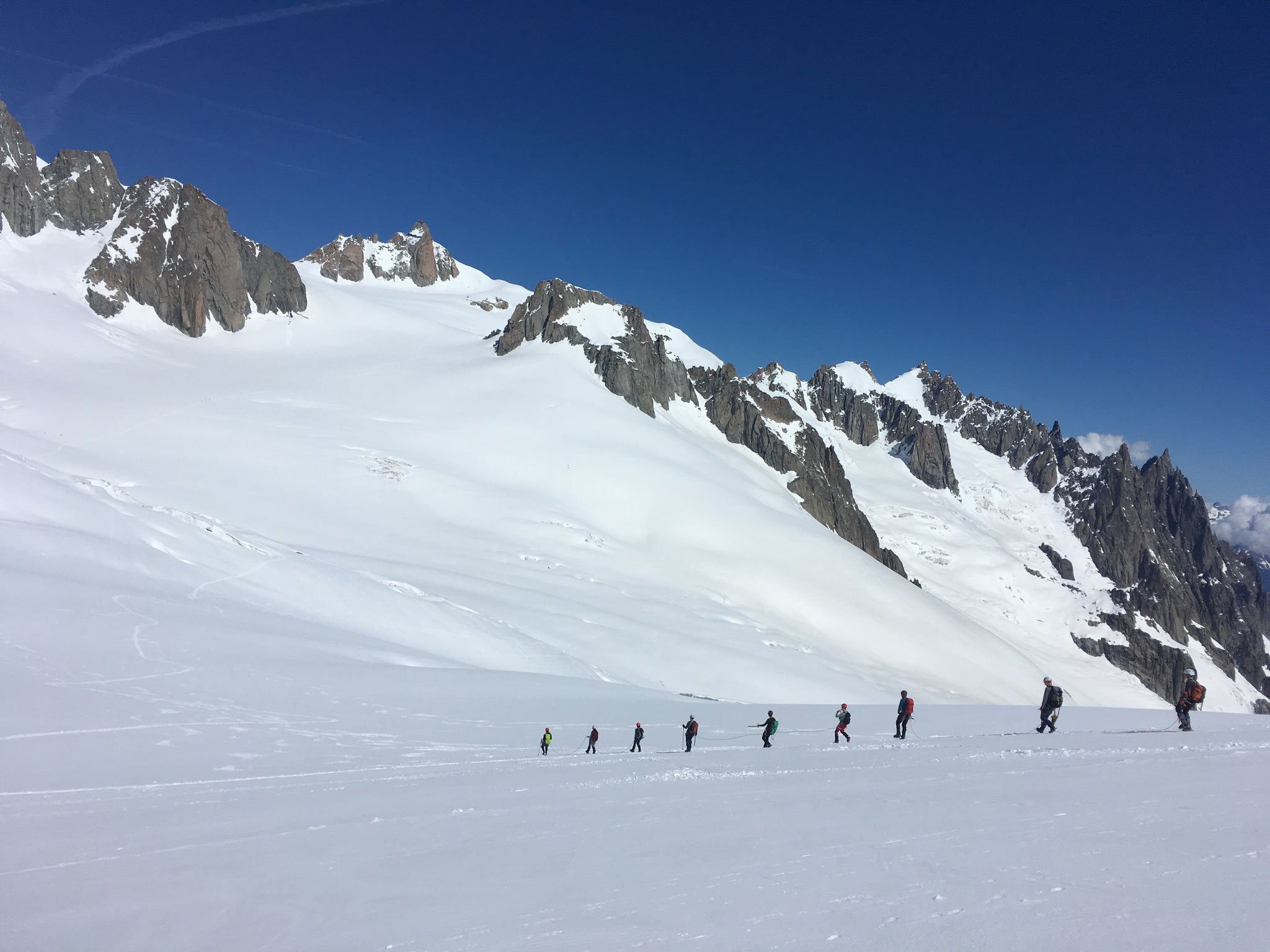 Coté Vallée Blanche, de belles conditions !