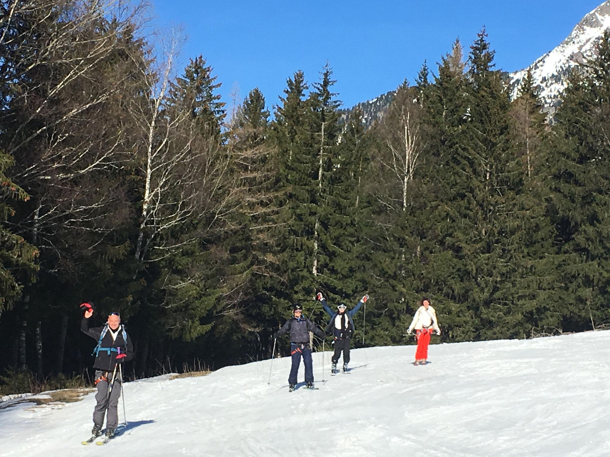 Jonction avec Les Planards, Chamonix