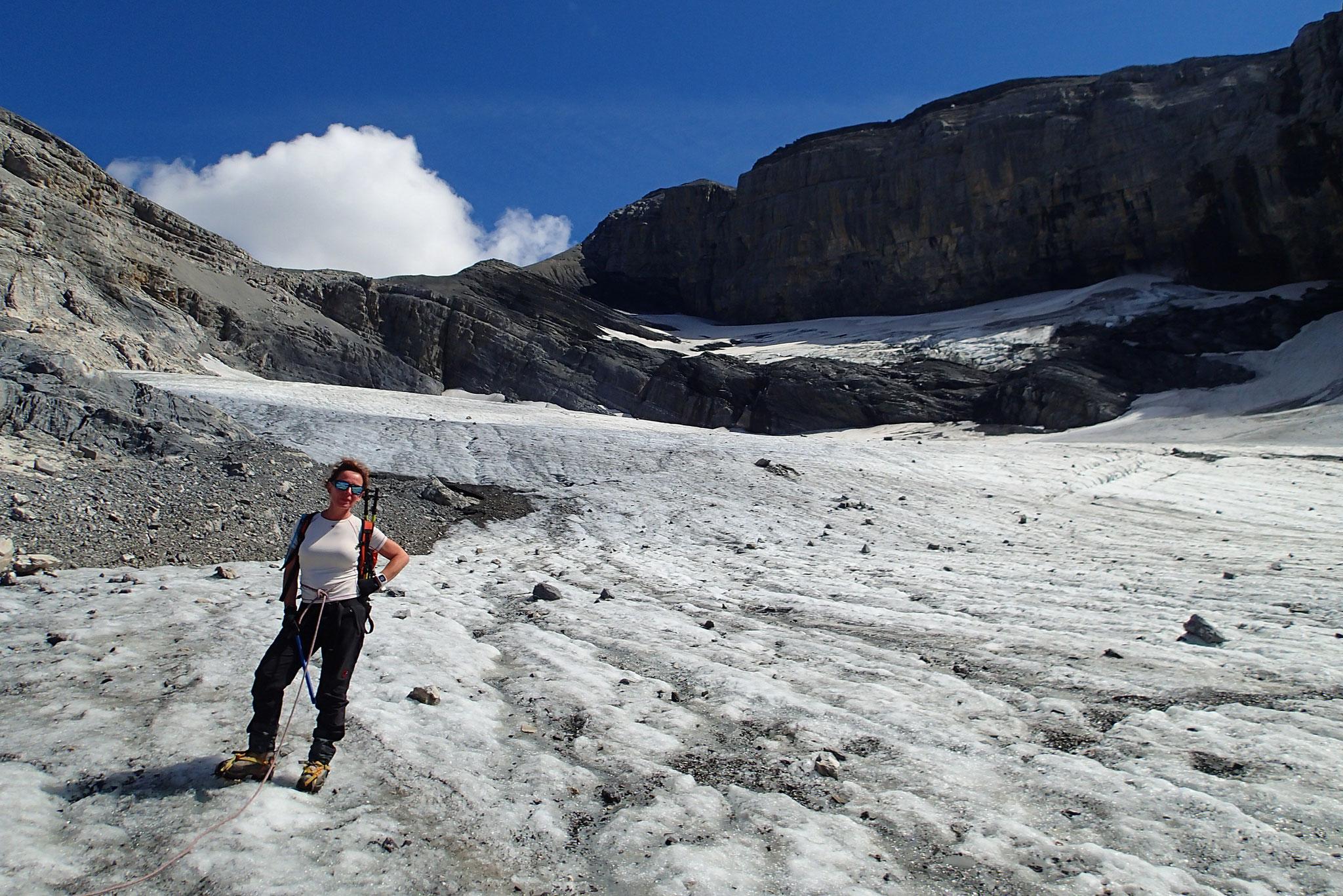 Derniers mètres sur le Glacier