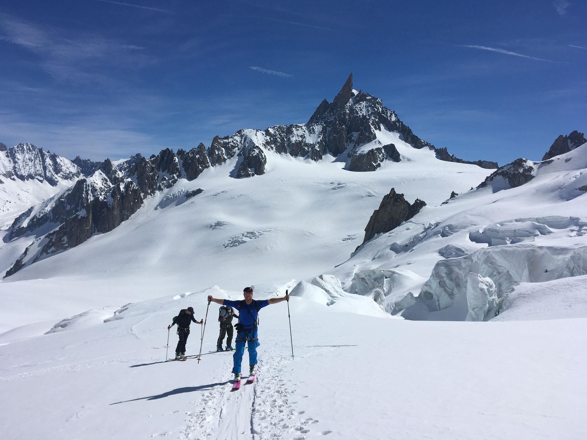 Remontée sur le Glacier du Géant