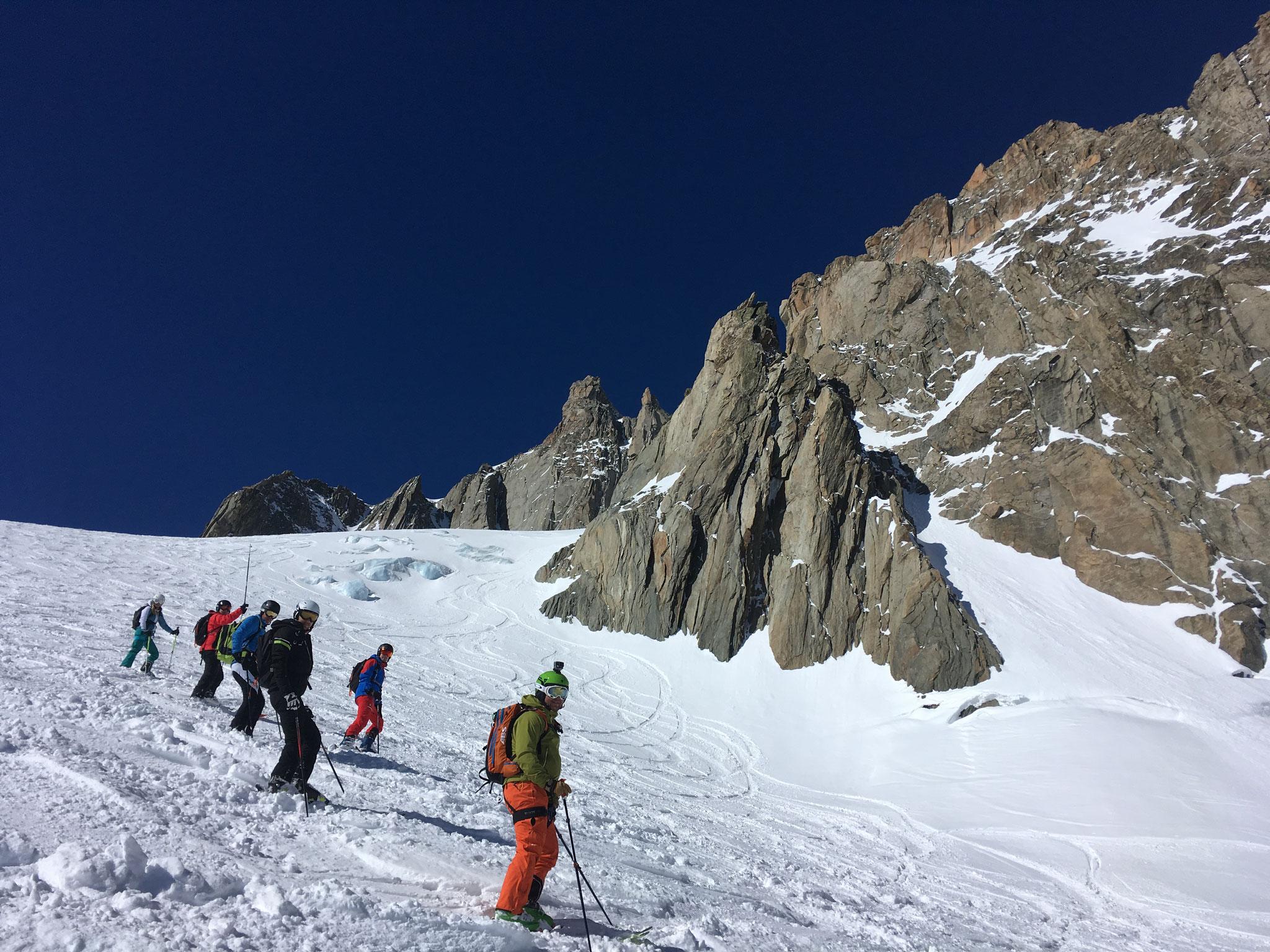 Du bon ski dans les pentes Est du Gros Rognon
