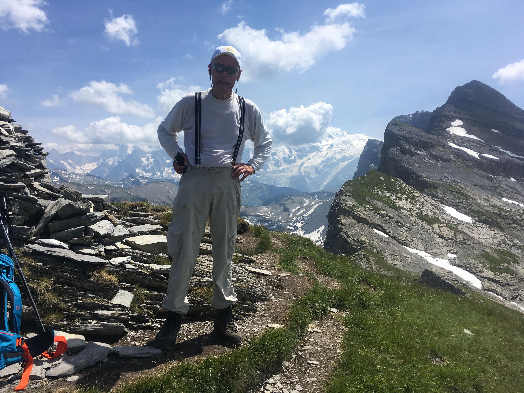 Sommet pour Renzo avec vue Mt-Blanc