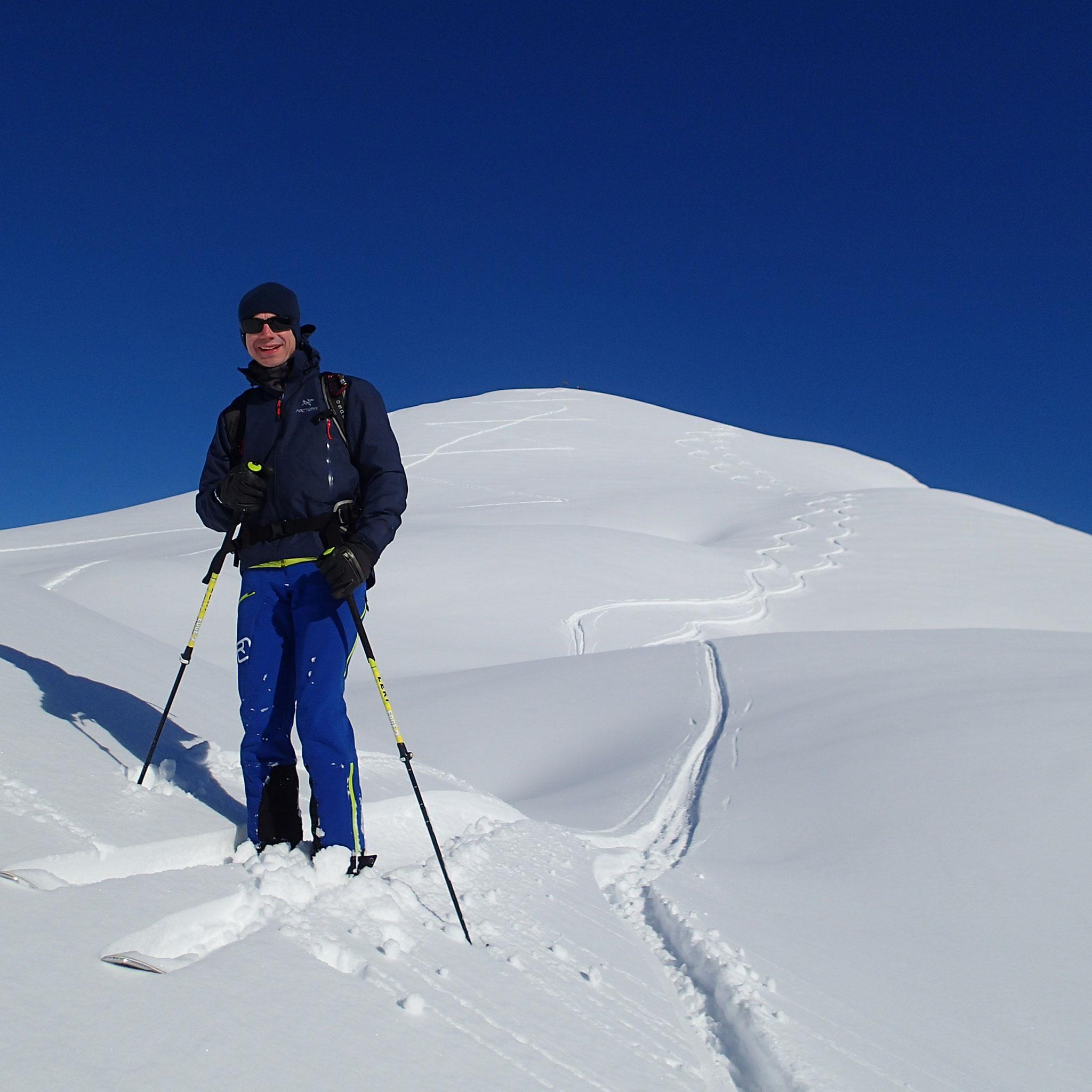 Fabrice en rigole : Quelle neige, et de belles traces !!
