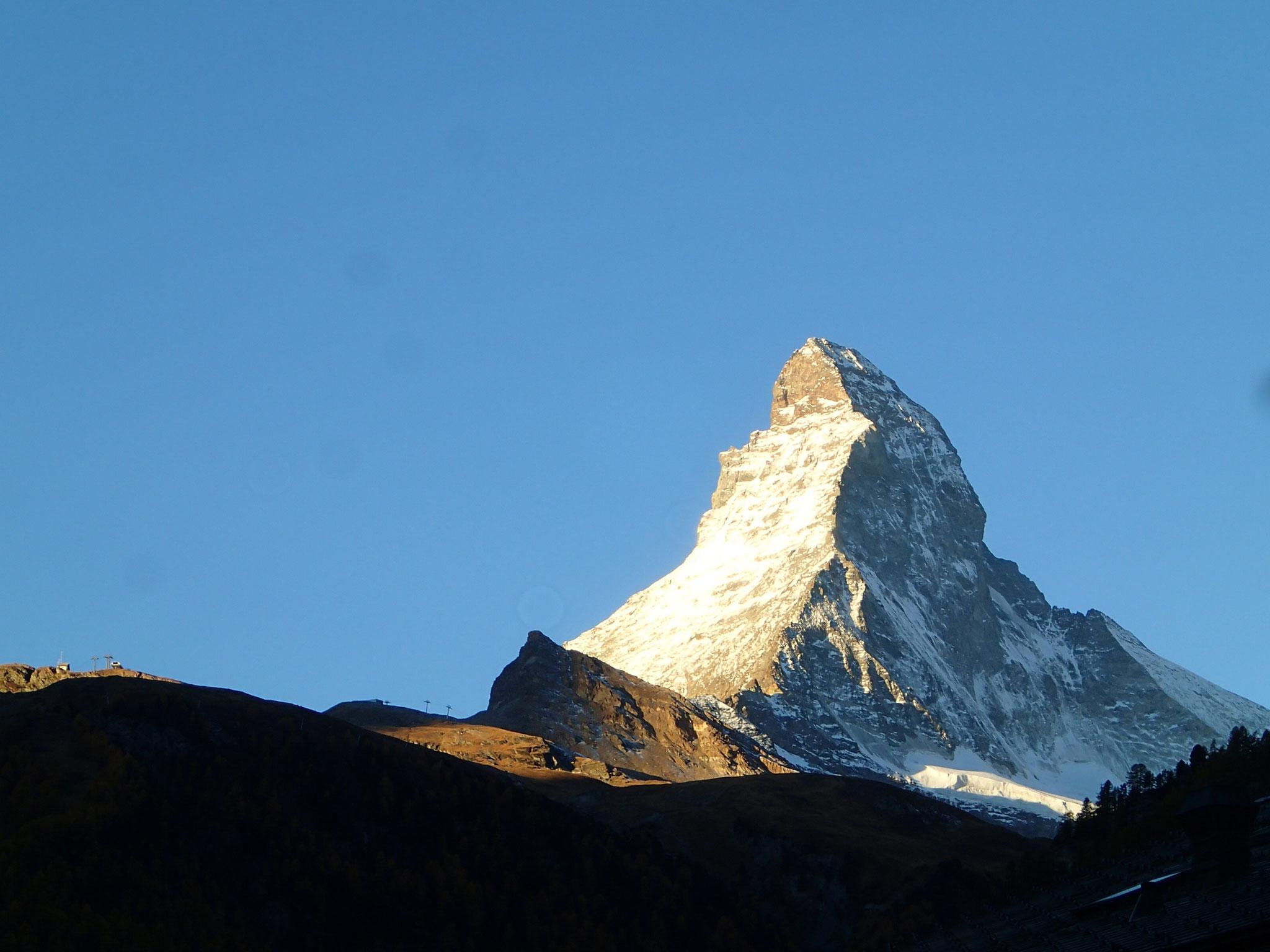 Incontournable! Depuis Zermatt, le Cervin.