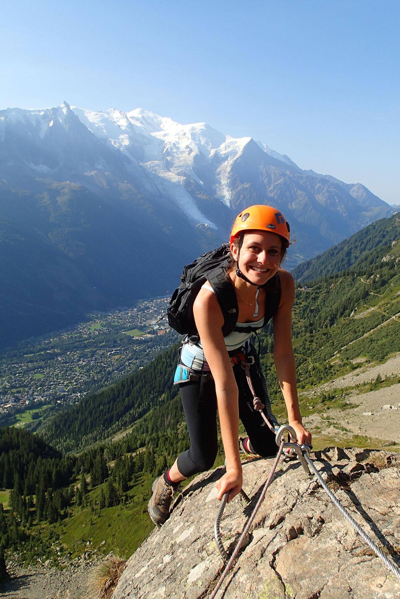 Rachel sur fond de Mt-Blanc