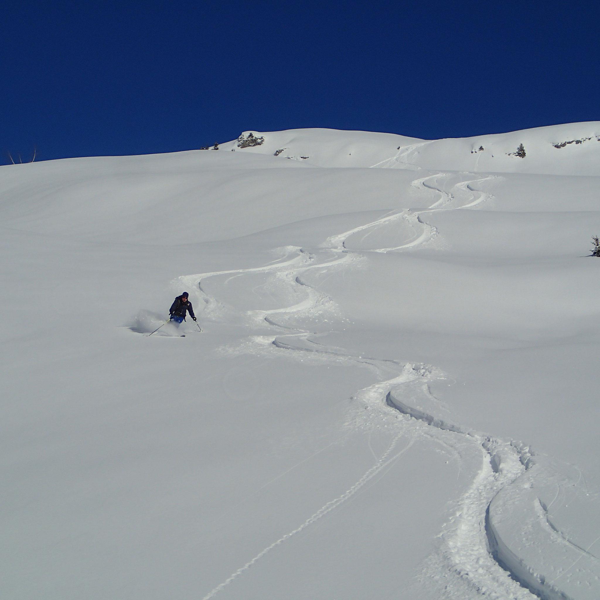Depuis le sommet, du très très grand ski !!!