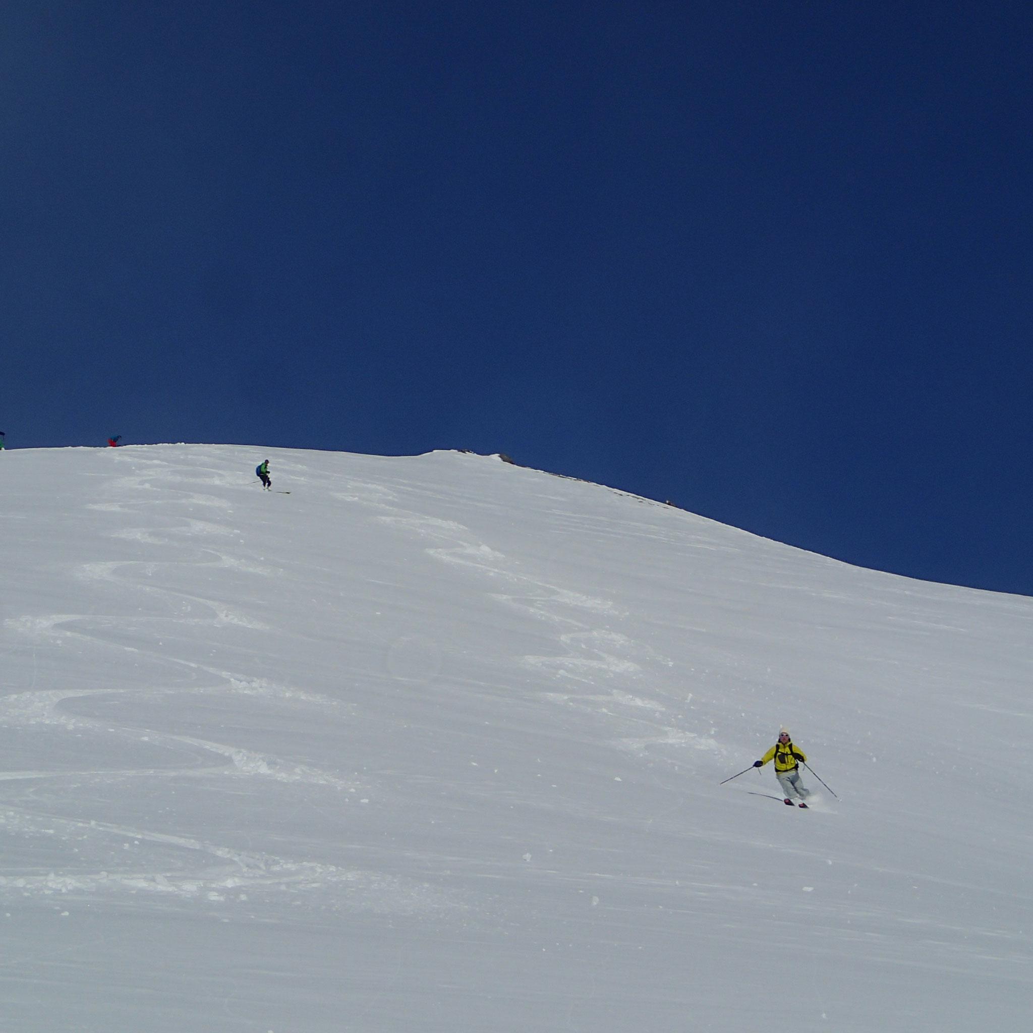 Une pente magnifique à skier !