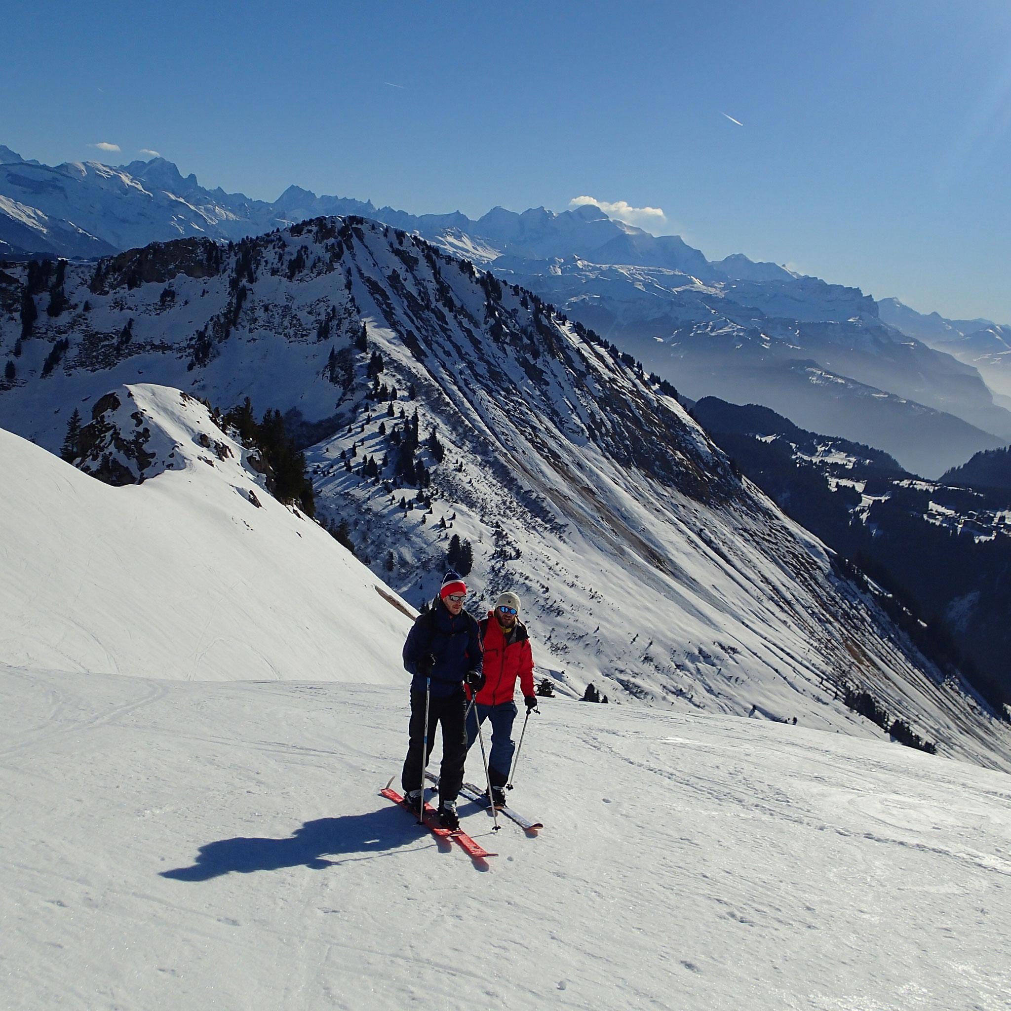Edouard et Cédric en plein effort au dessus du Col