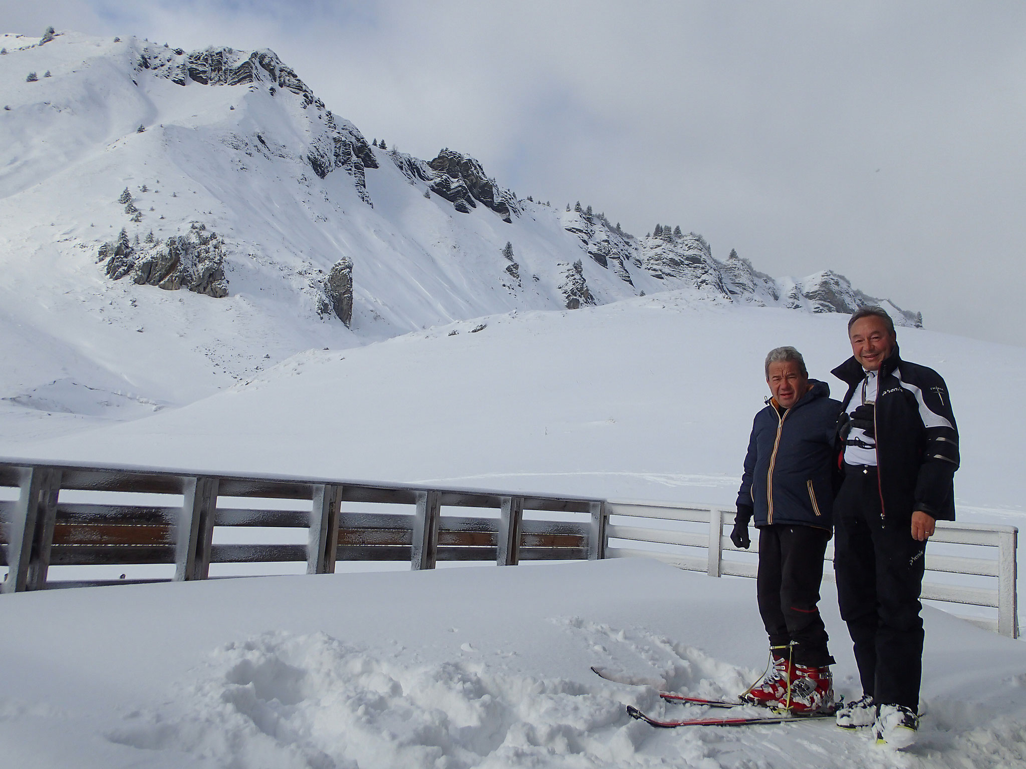 Jean-Marc et Raymond au Col de La Golèse