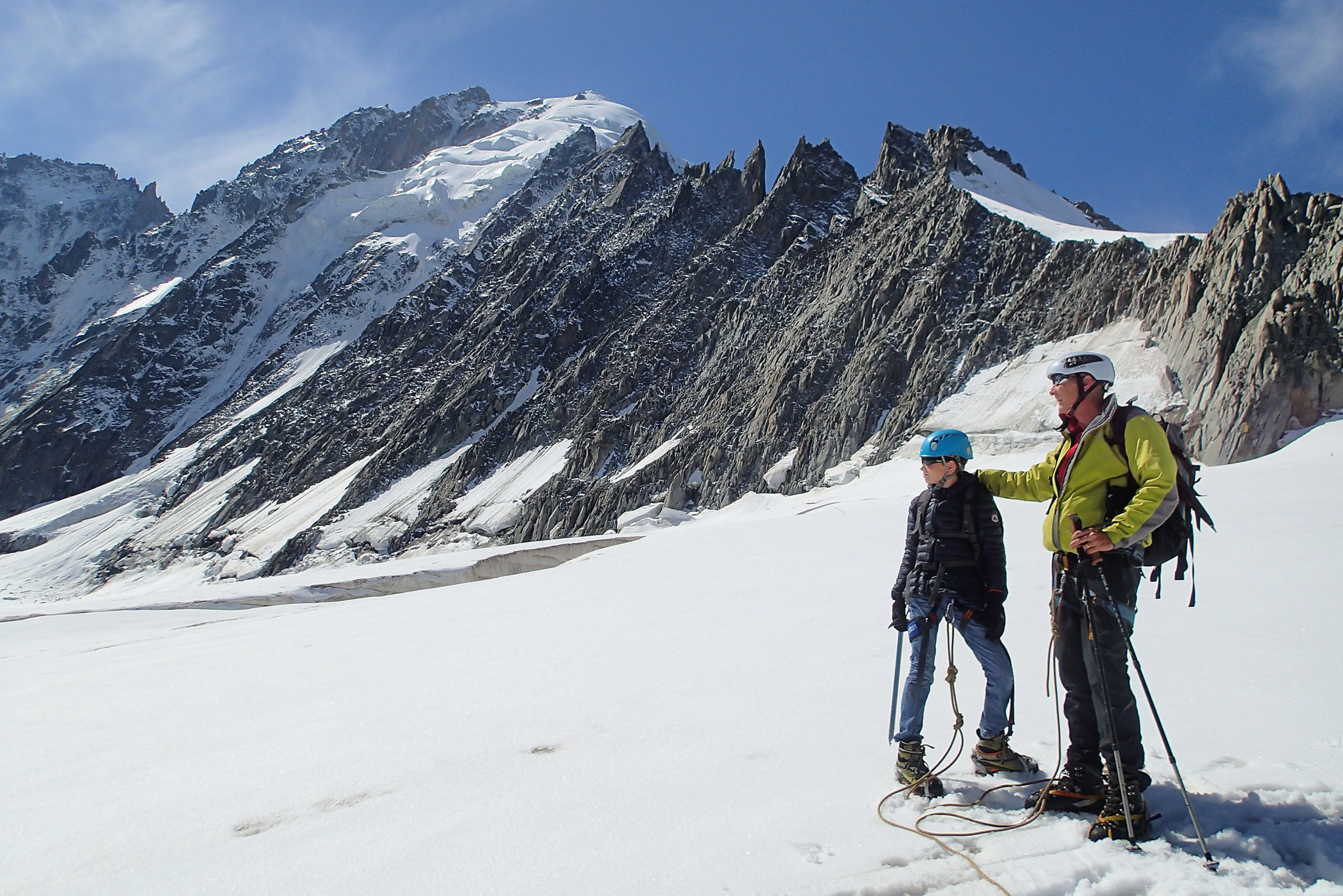 Descente sur le Glacier des Rognons