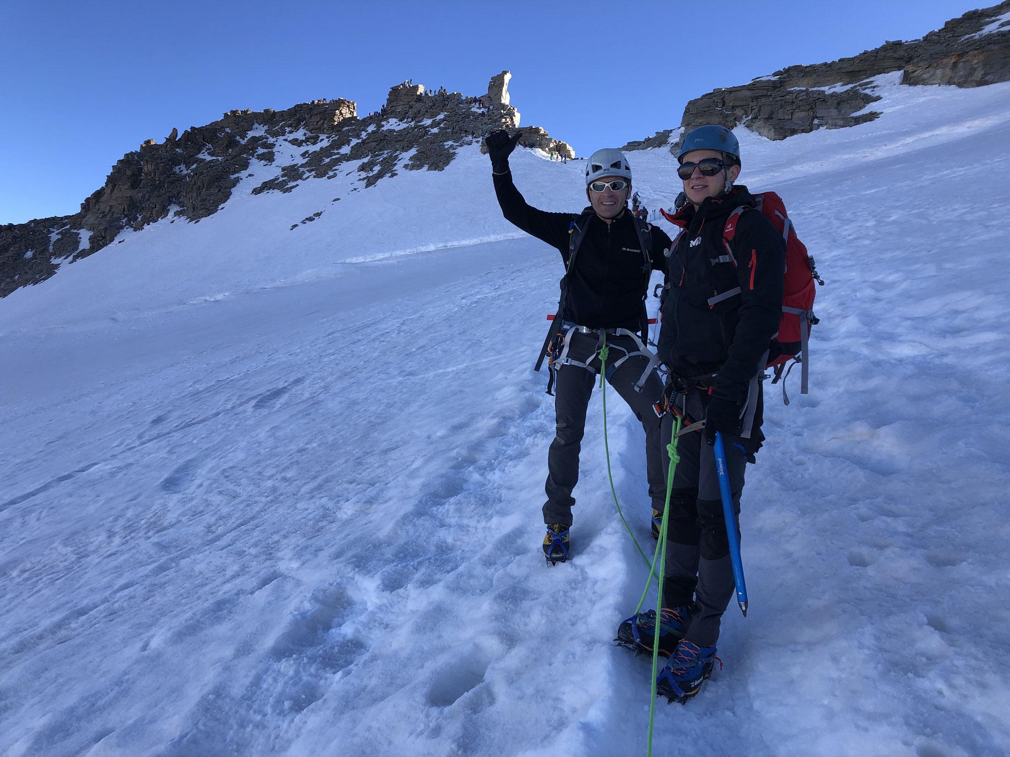 Sous le sommet, Maxime et François heureux !