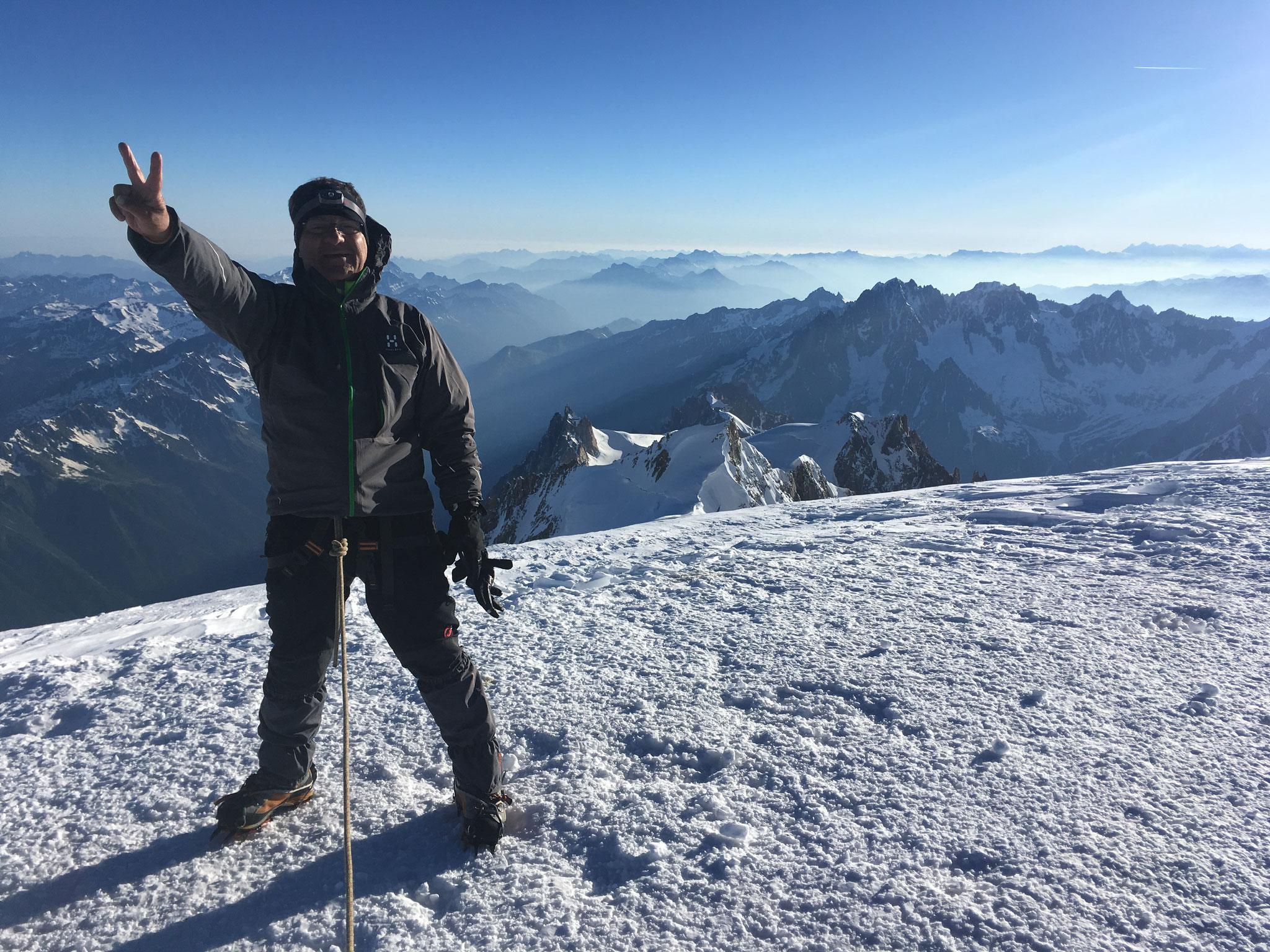 Sommet coté Aiguille du Midi