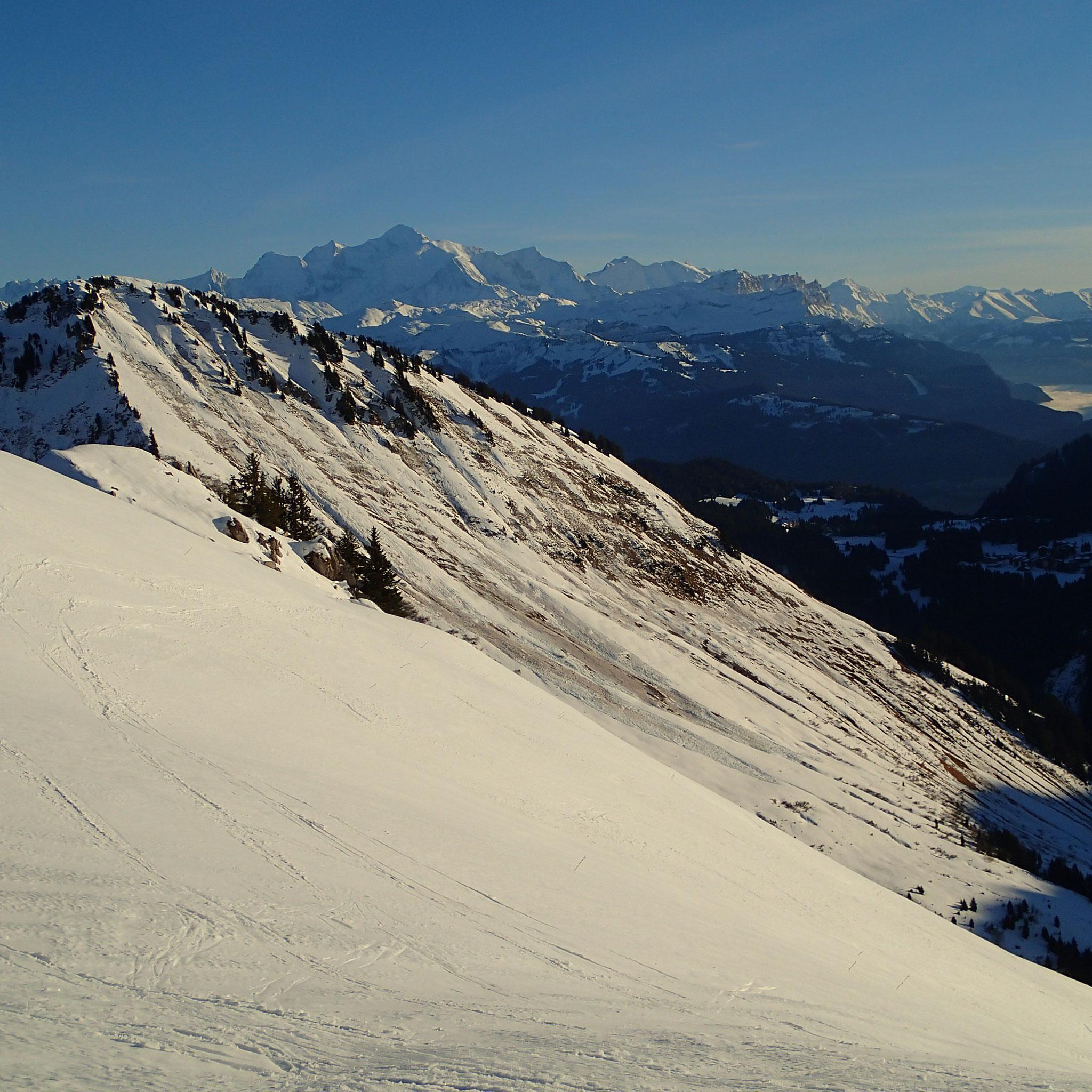Près du Col de Chalune, vue sur le Mt-Blanc