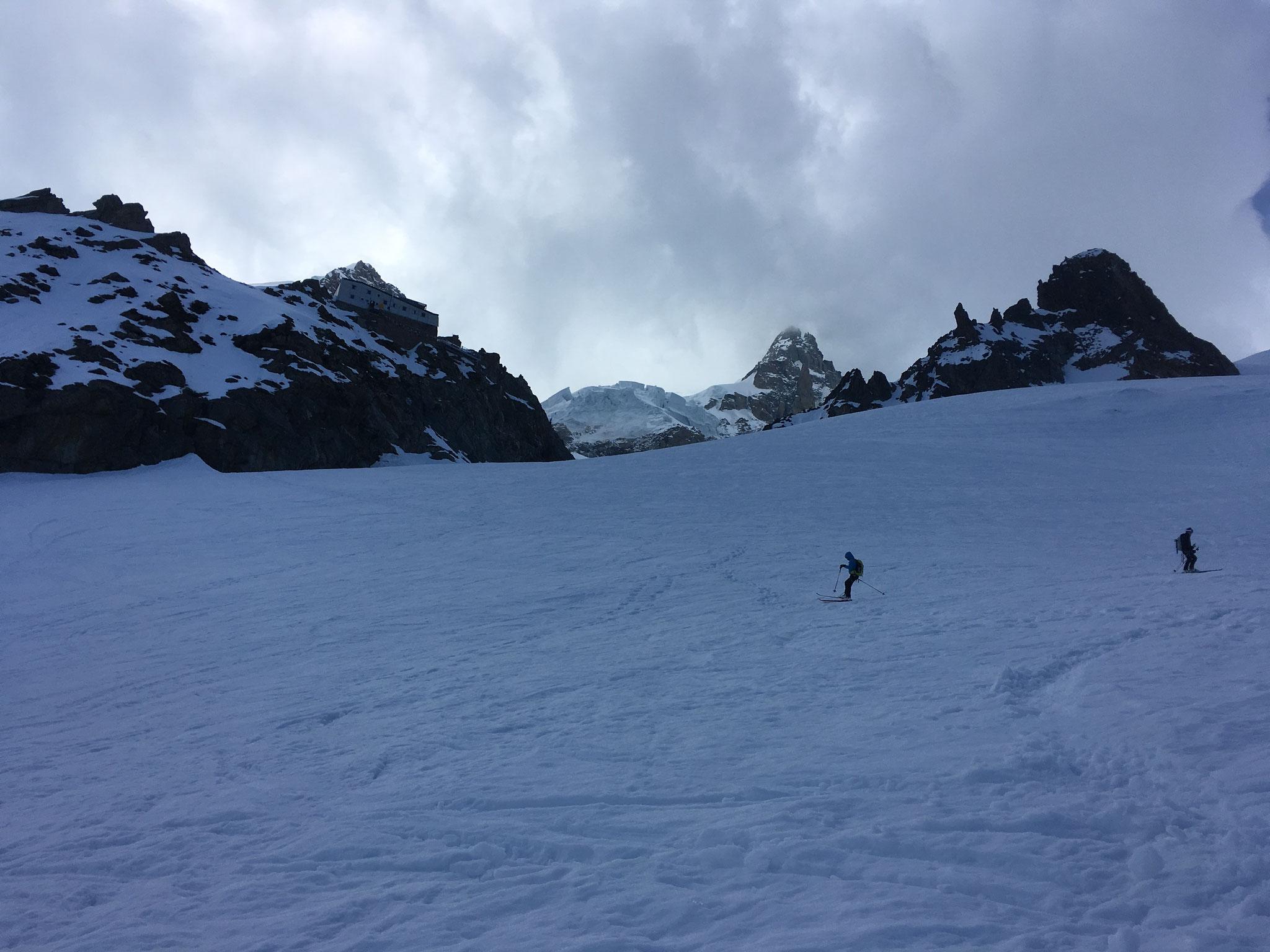 Ski près du Refuge des Grands Mulets