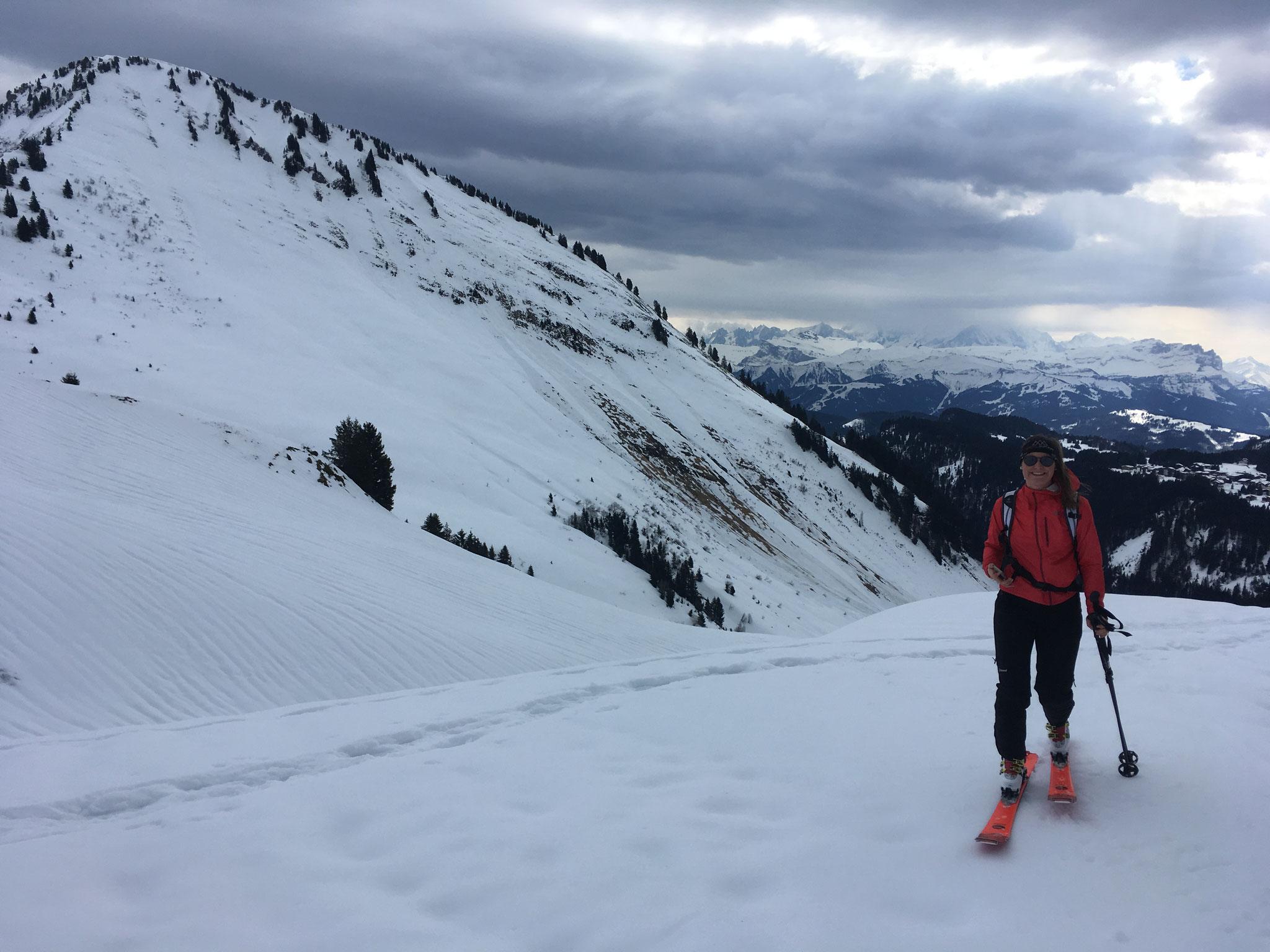 Arrivée et stop au Col de Chalune. Trop de vent !