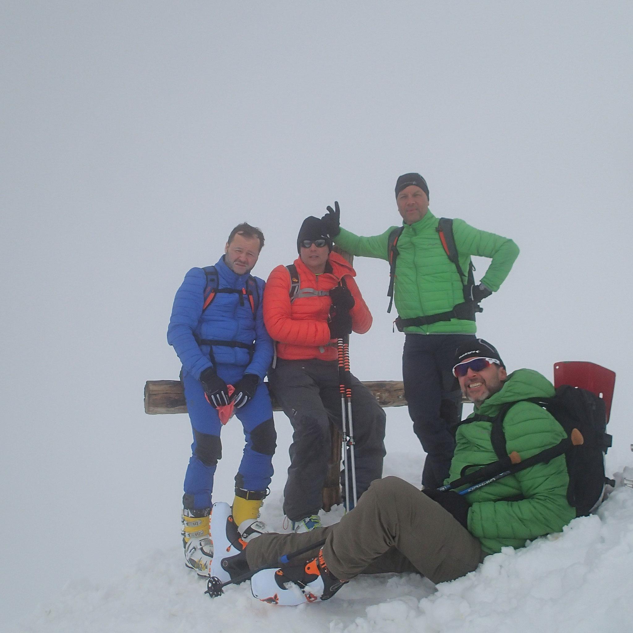 Olivier, Franck, Fred et Laurent à la croix sommitale