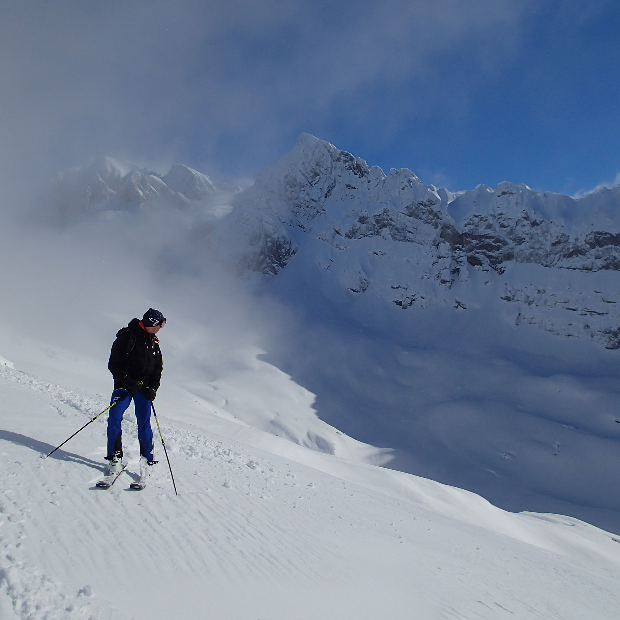 Un régal à la descente. Soleil et super neige !!