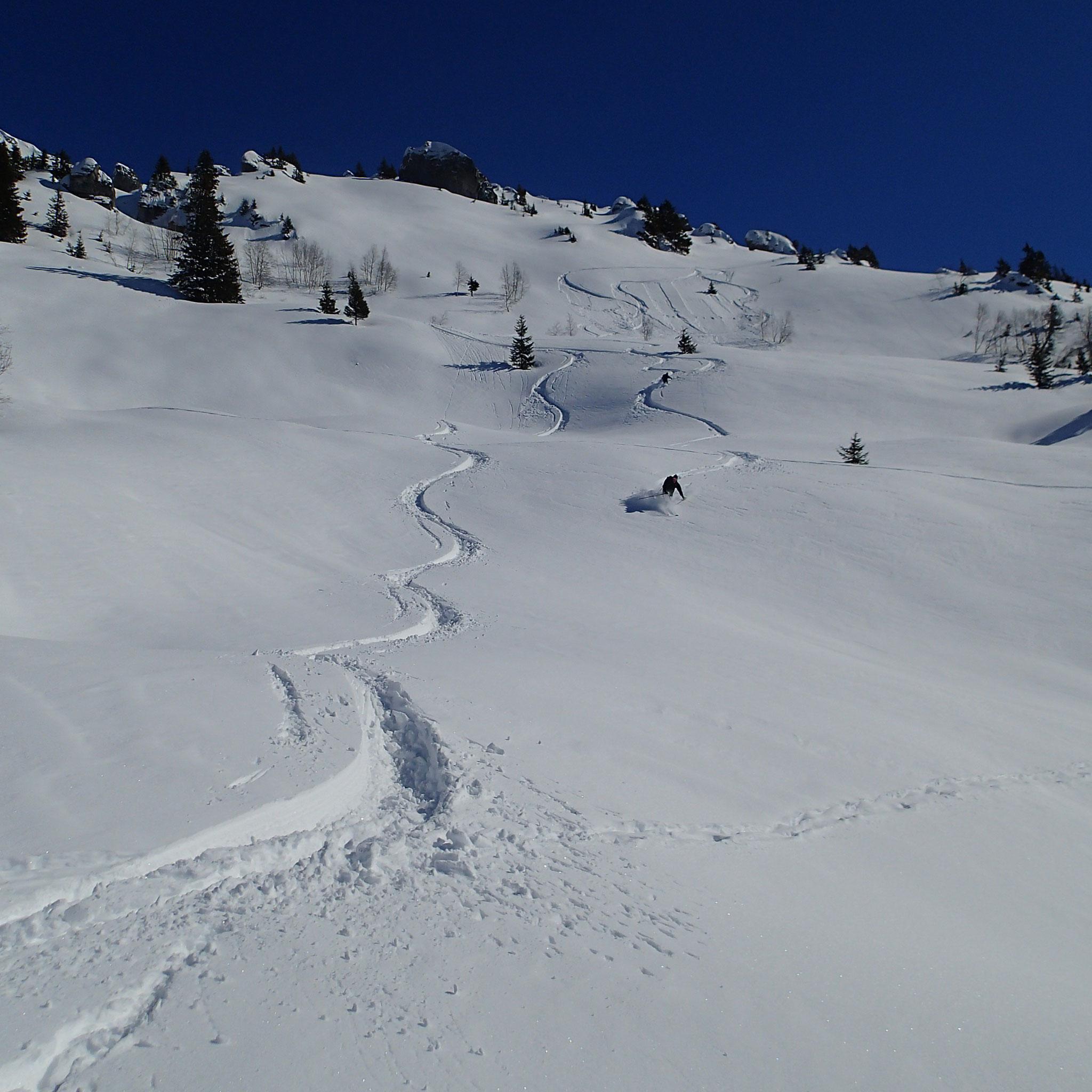Une neige magnifique à skier !!