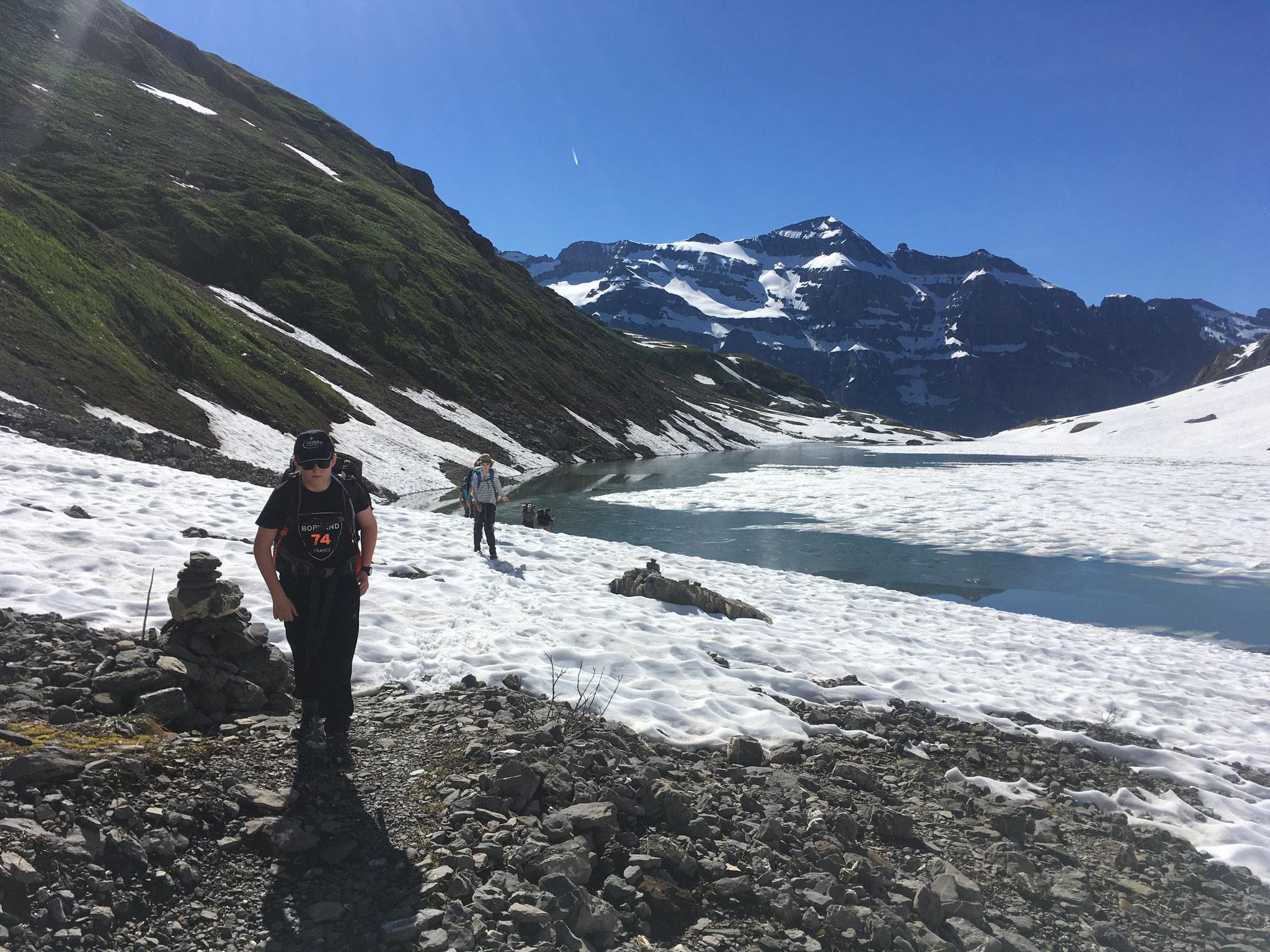 Neige bien présente vers le Lac de La Vogealle