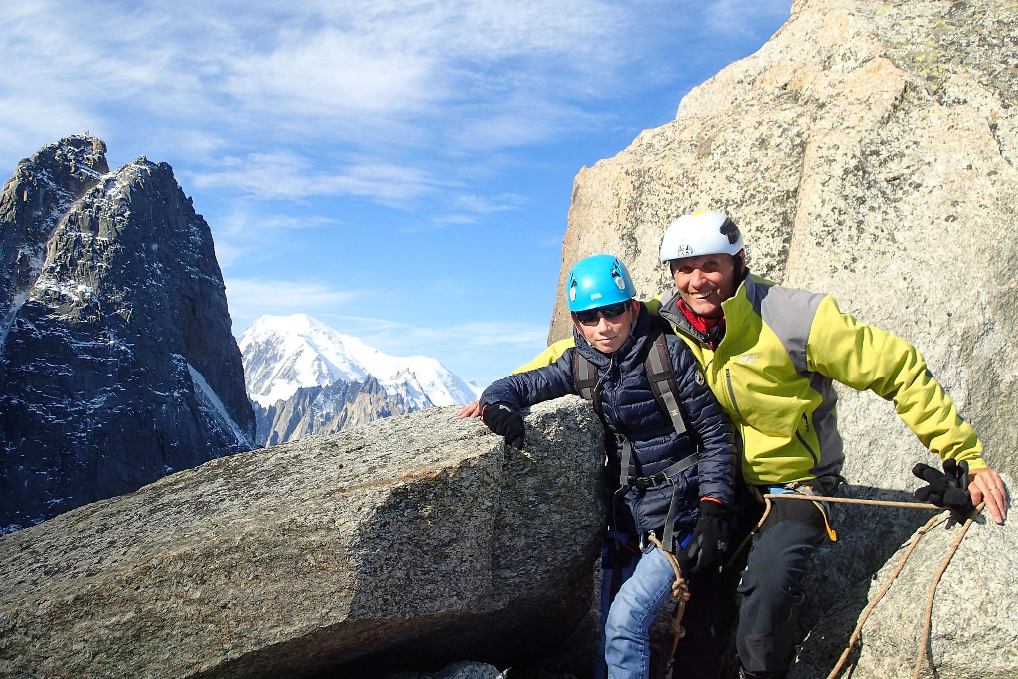 Avec vue sur Les Drus et le Mt-Blanc