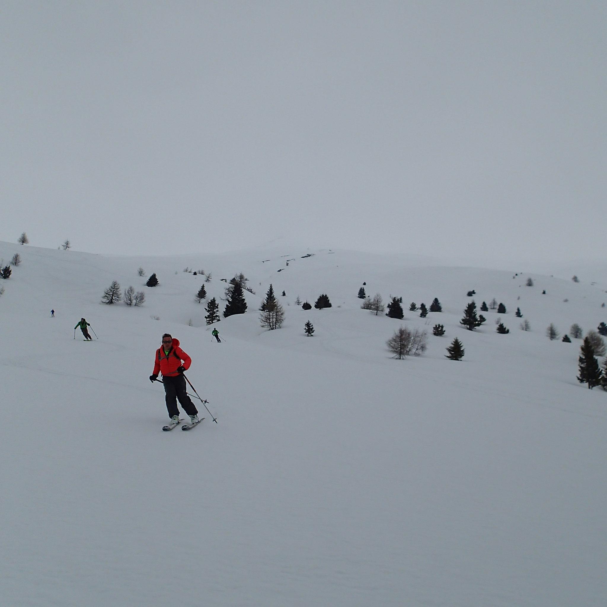 C'est vaste, 1100 m de descente et c'est bon pour le ski !