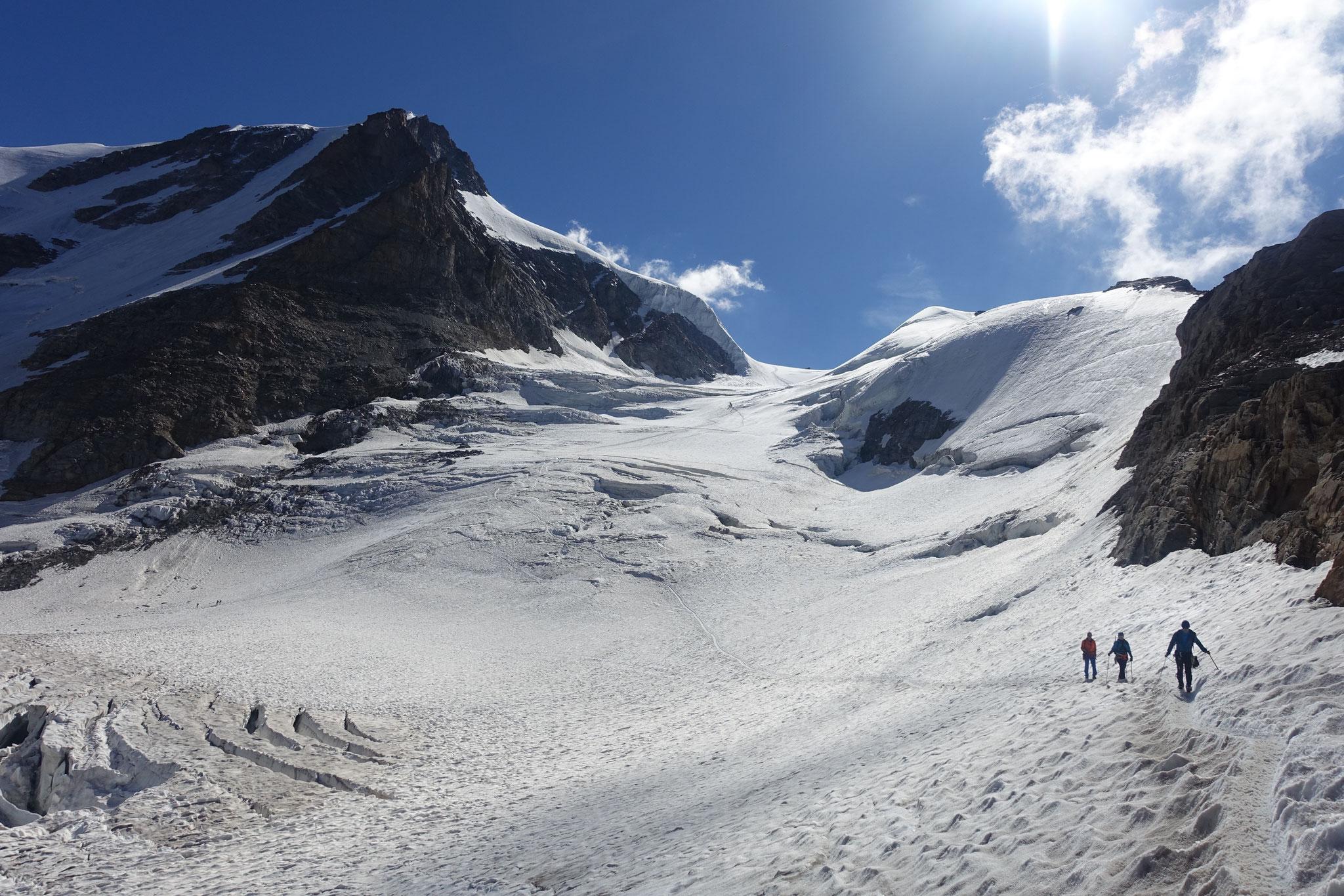 Retour par le Glacier di Laveciau