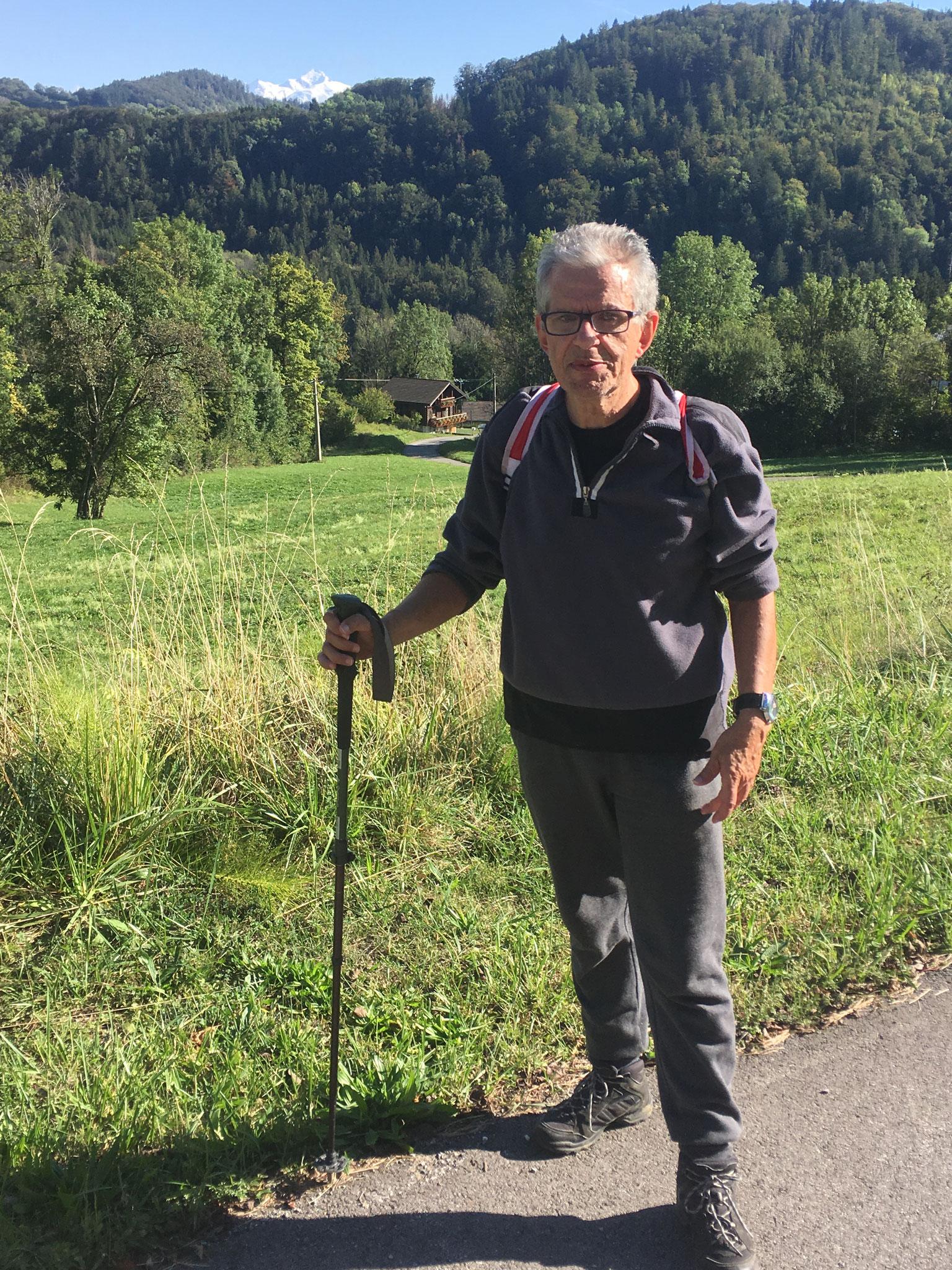 Vue sur le Mont-Blanc depuis Onnion