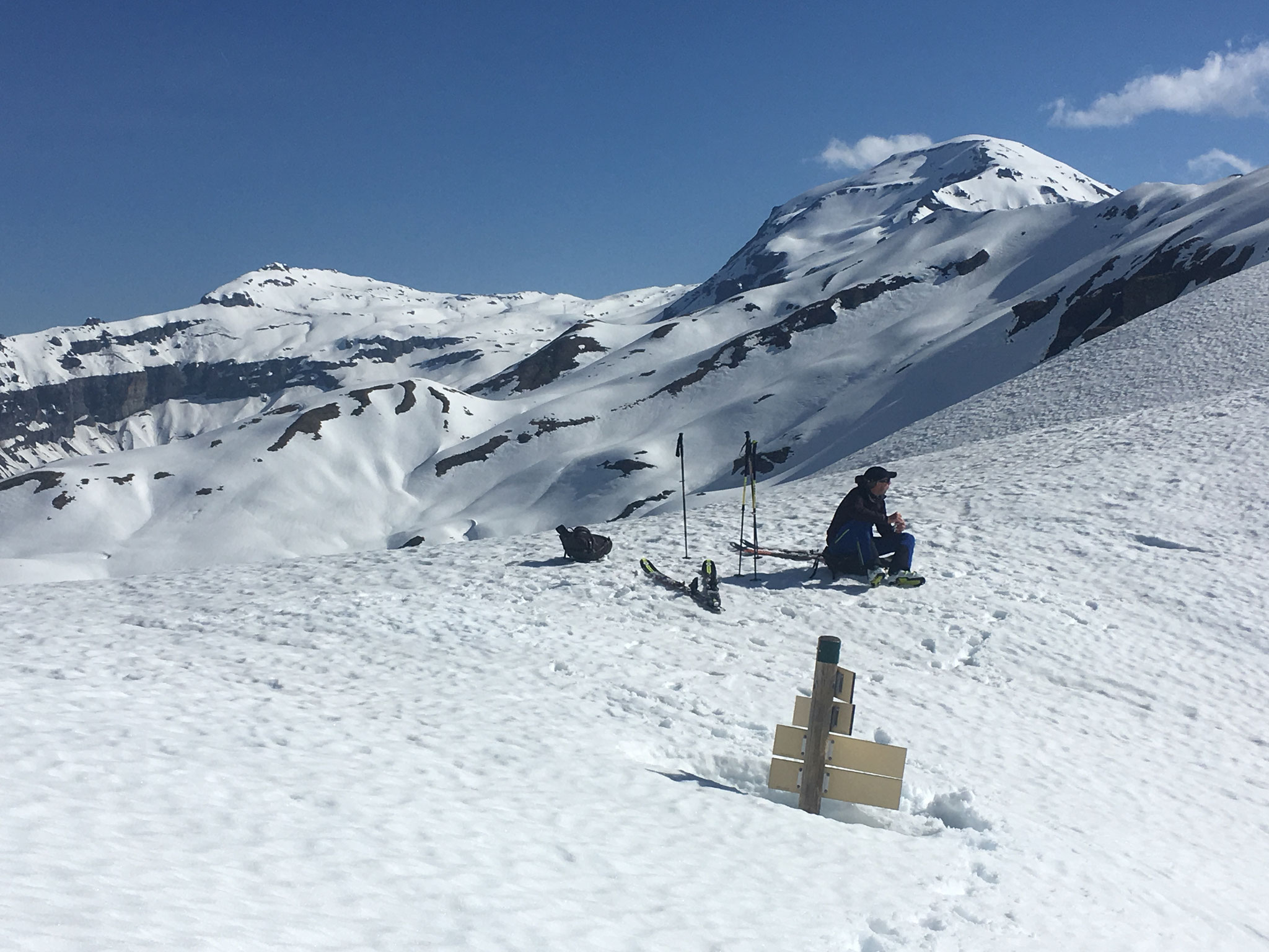 Fabrice à la pause au Col d'Anterne
