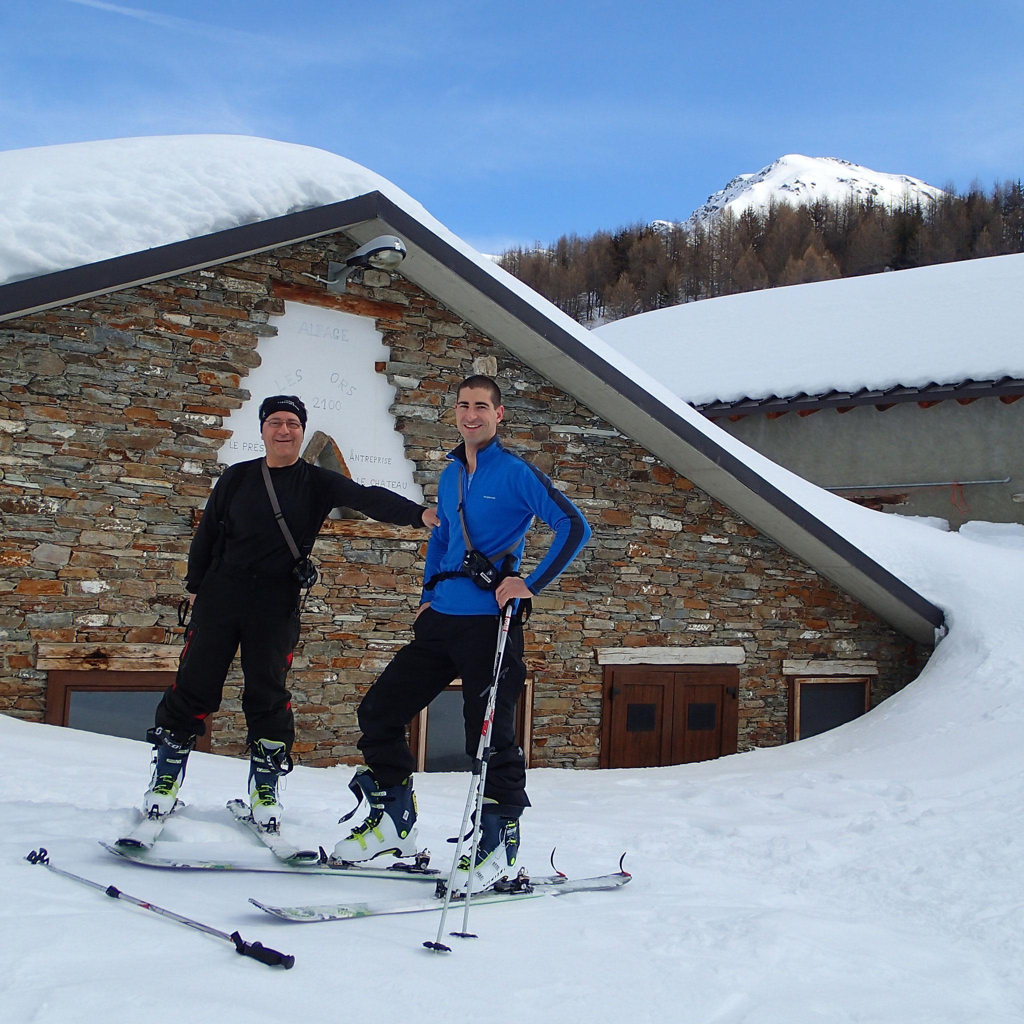 Première pause à l'alpage des Ors