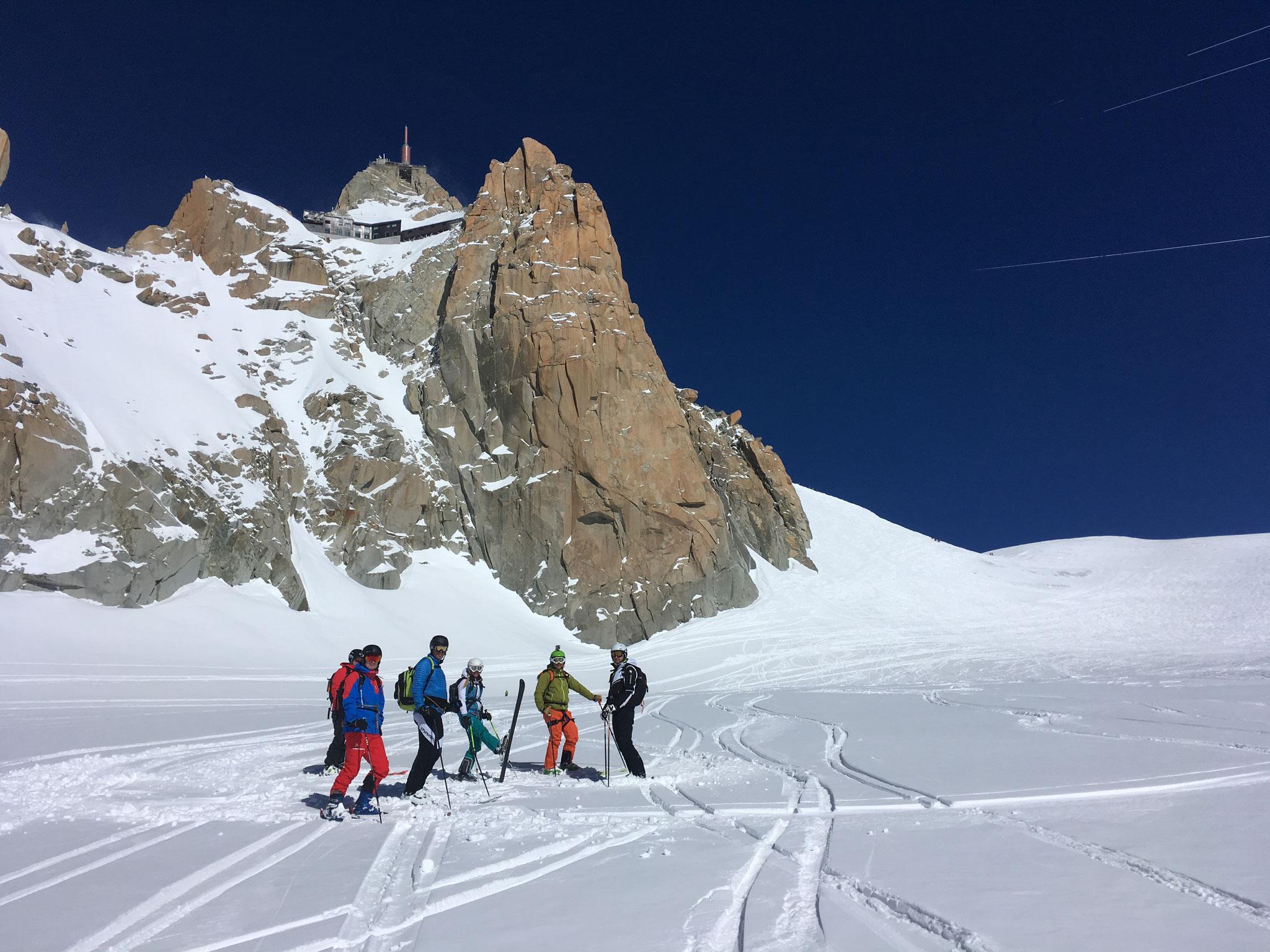 Pause au plateau du Col du Midi